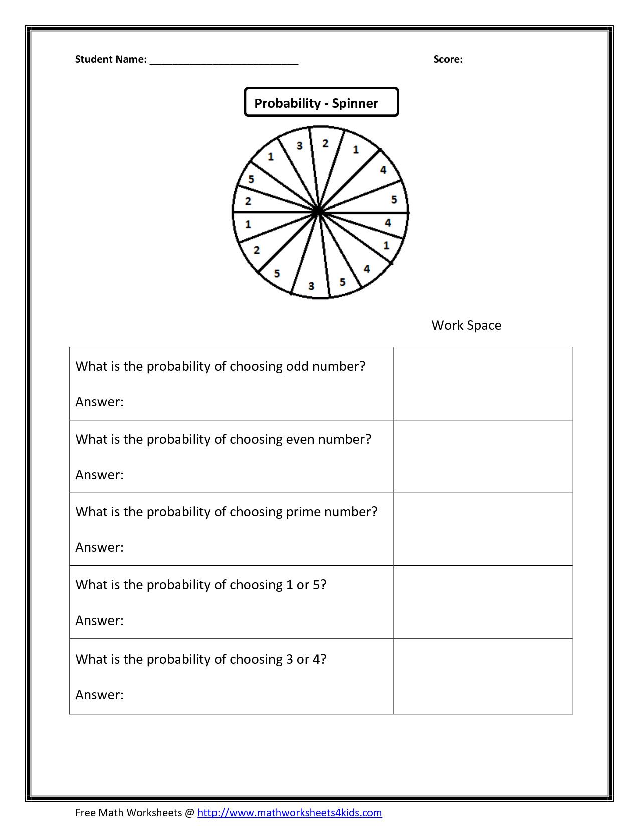 8th Grade Math Probability Worksheets Printable Worksheet