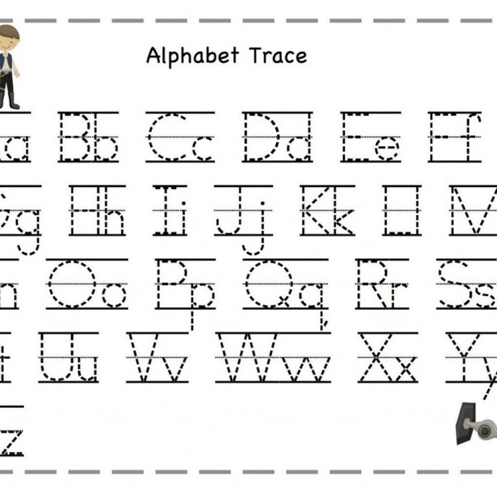 Abc Tracing Worksheets Preschool With Kindergarten Abc