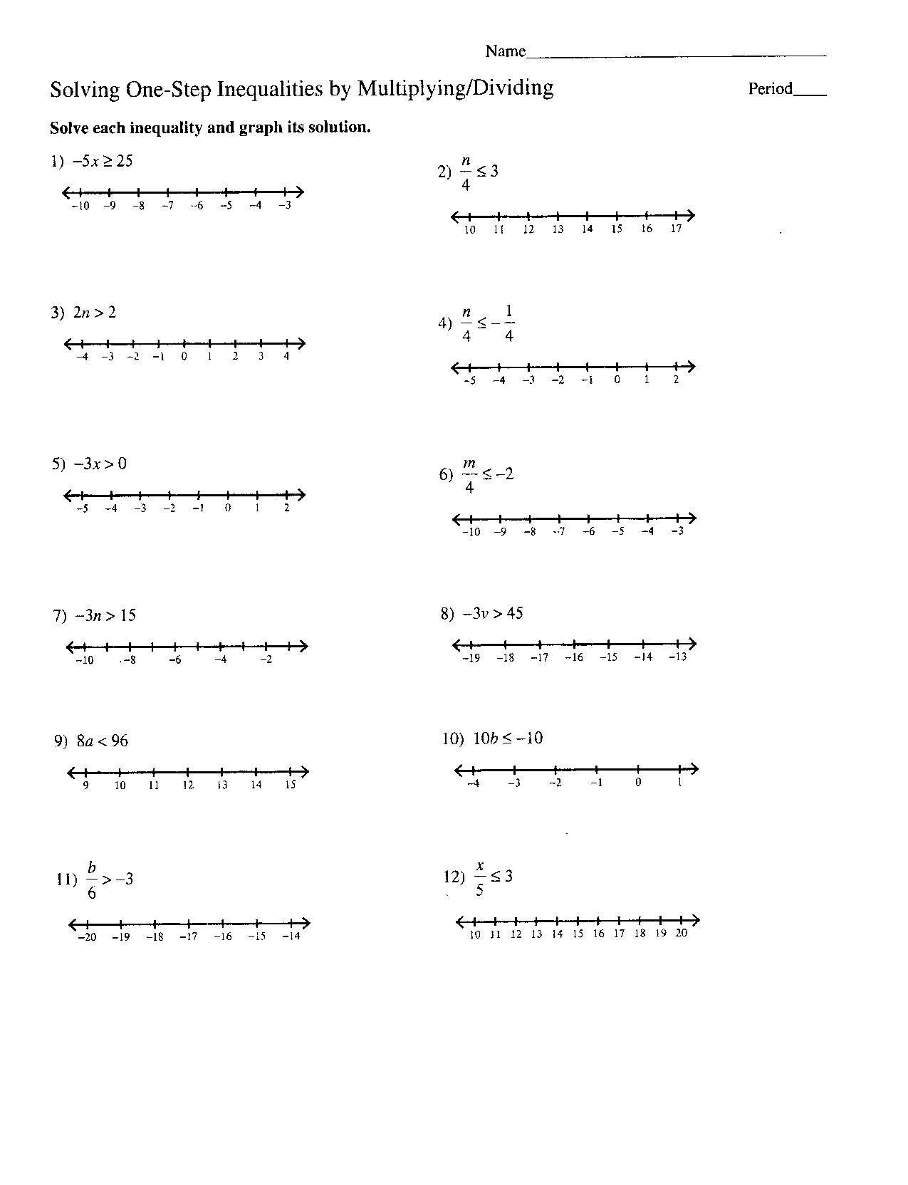 Absolute Value Inequalities Worksheet Answers Db Excel