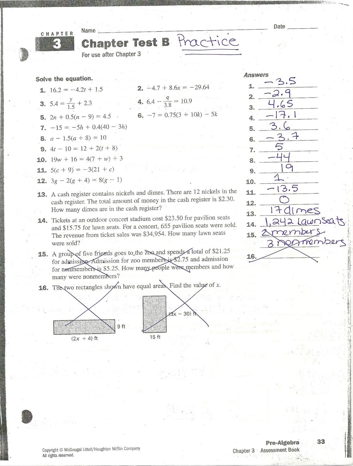 Algebra 2 Chapter 2 Mid Chapter Quiz Answers