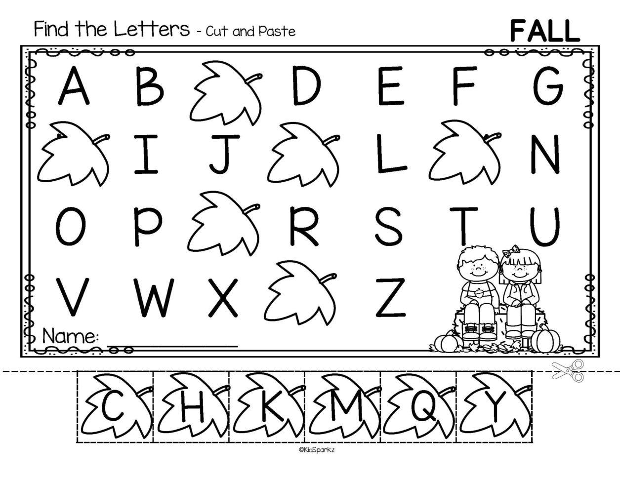 Alphabet Order Cut And Paste Worksheets Using Preschool