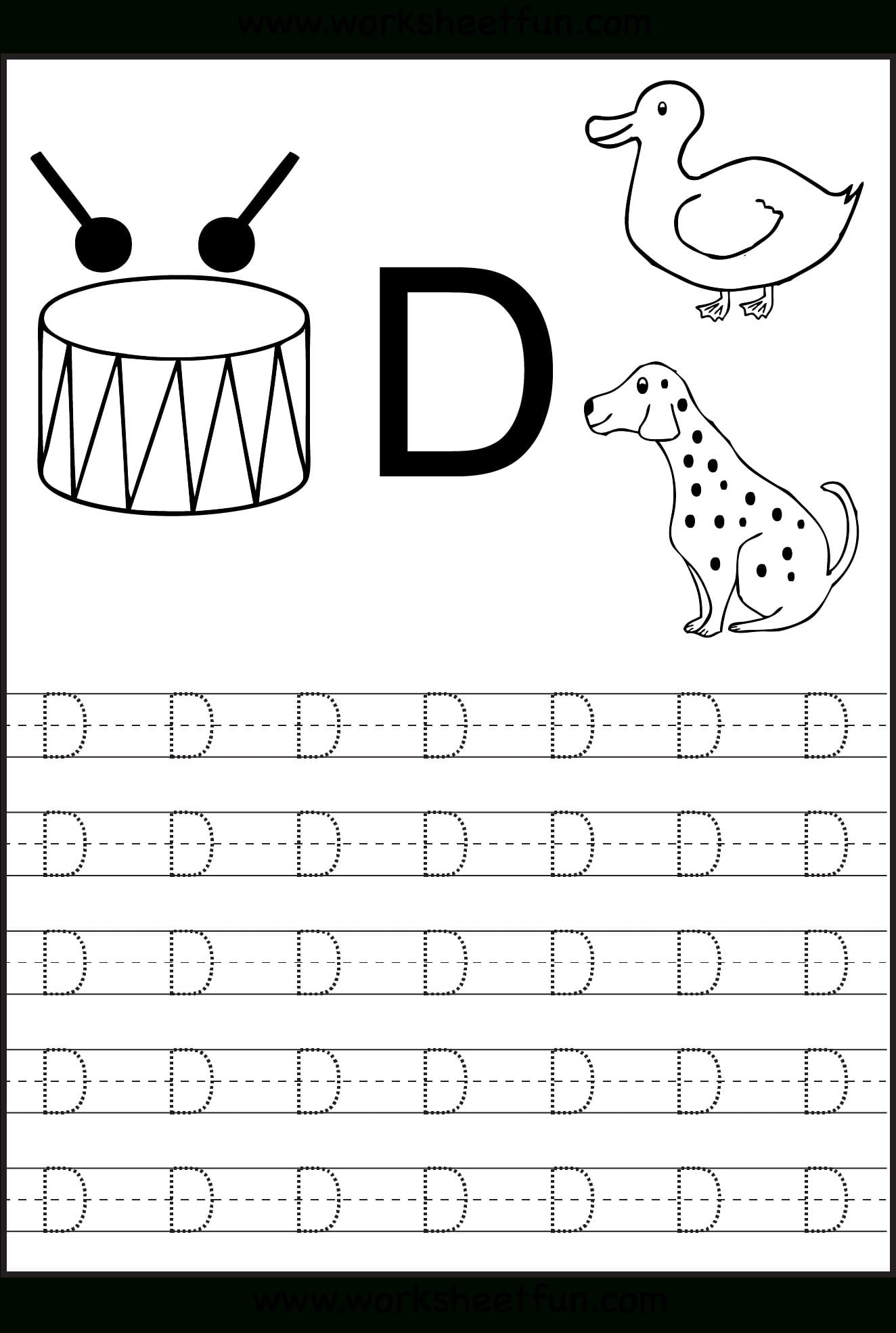 Alphabet Worksheets Preschool Tracing Printable Coloring