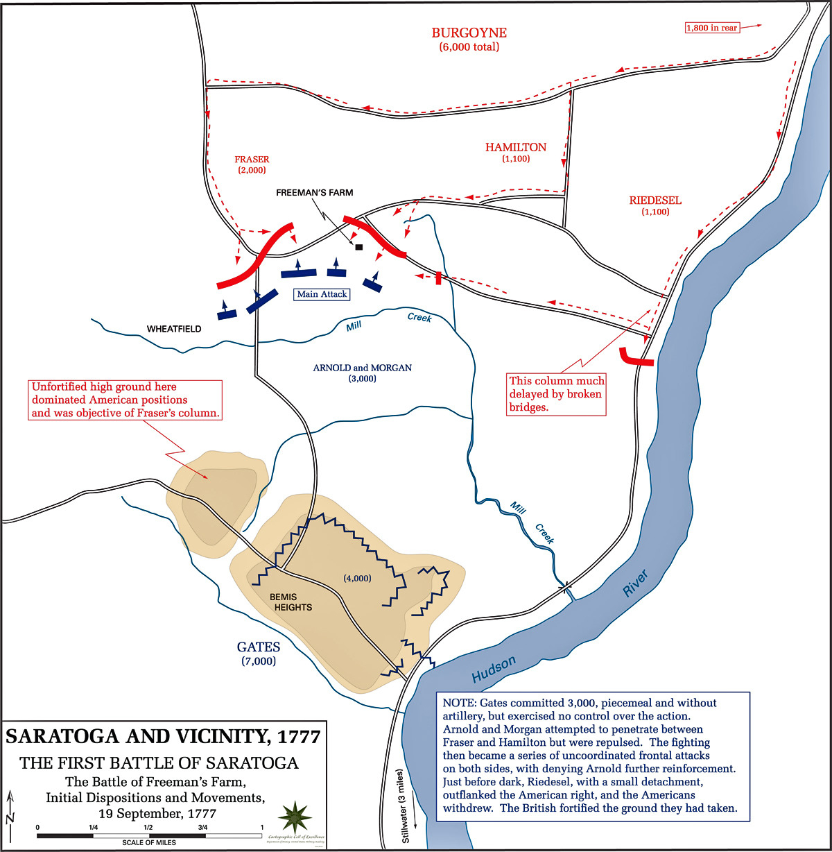 Revolutionary War Battles Map Worksheet