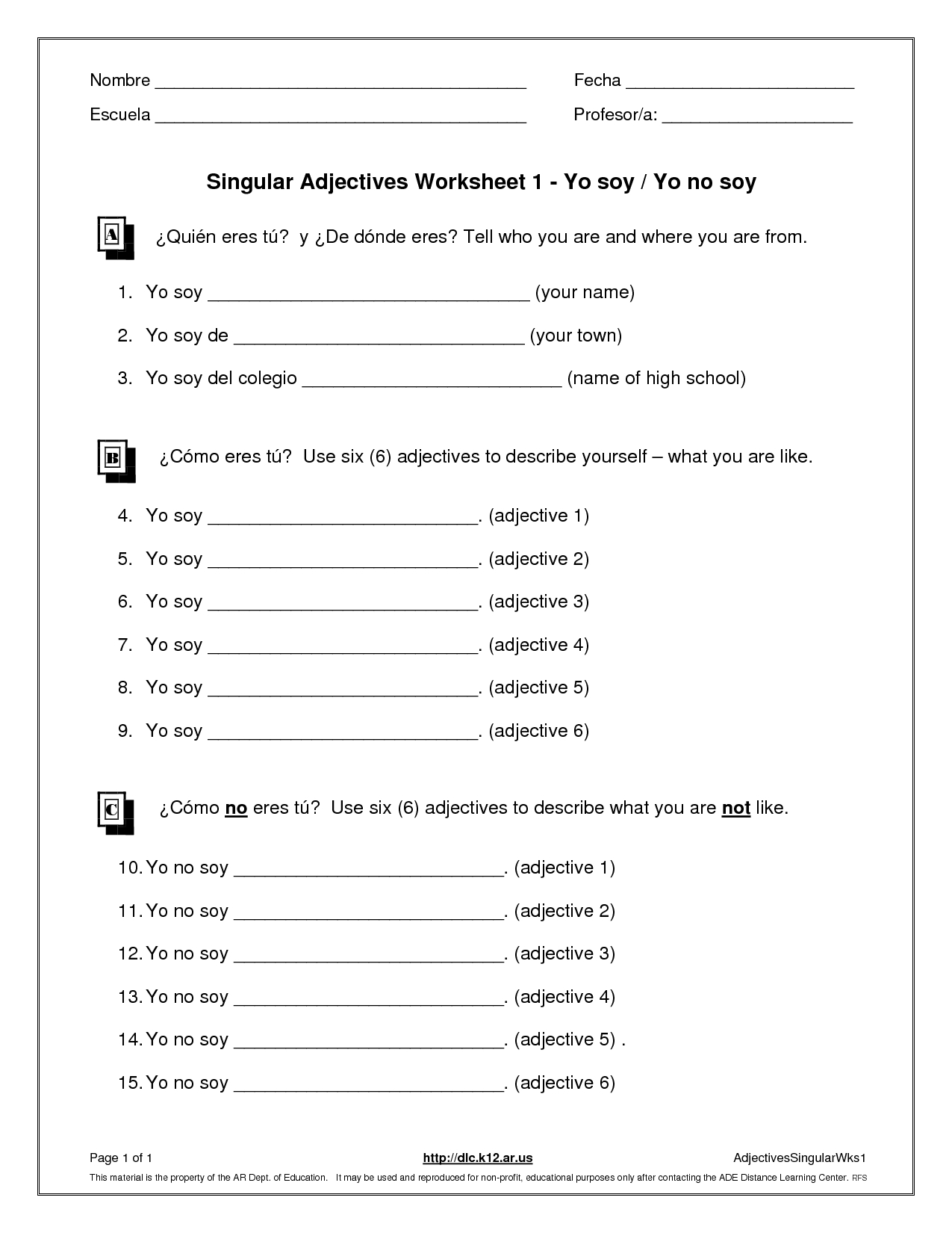 Teenage Anger Management Worksheets