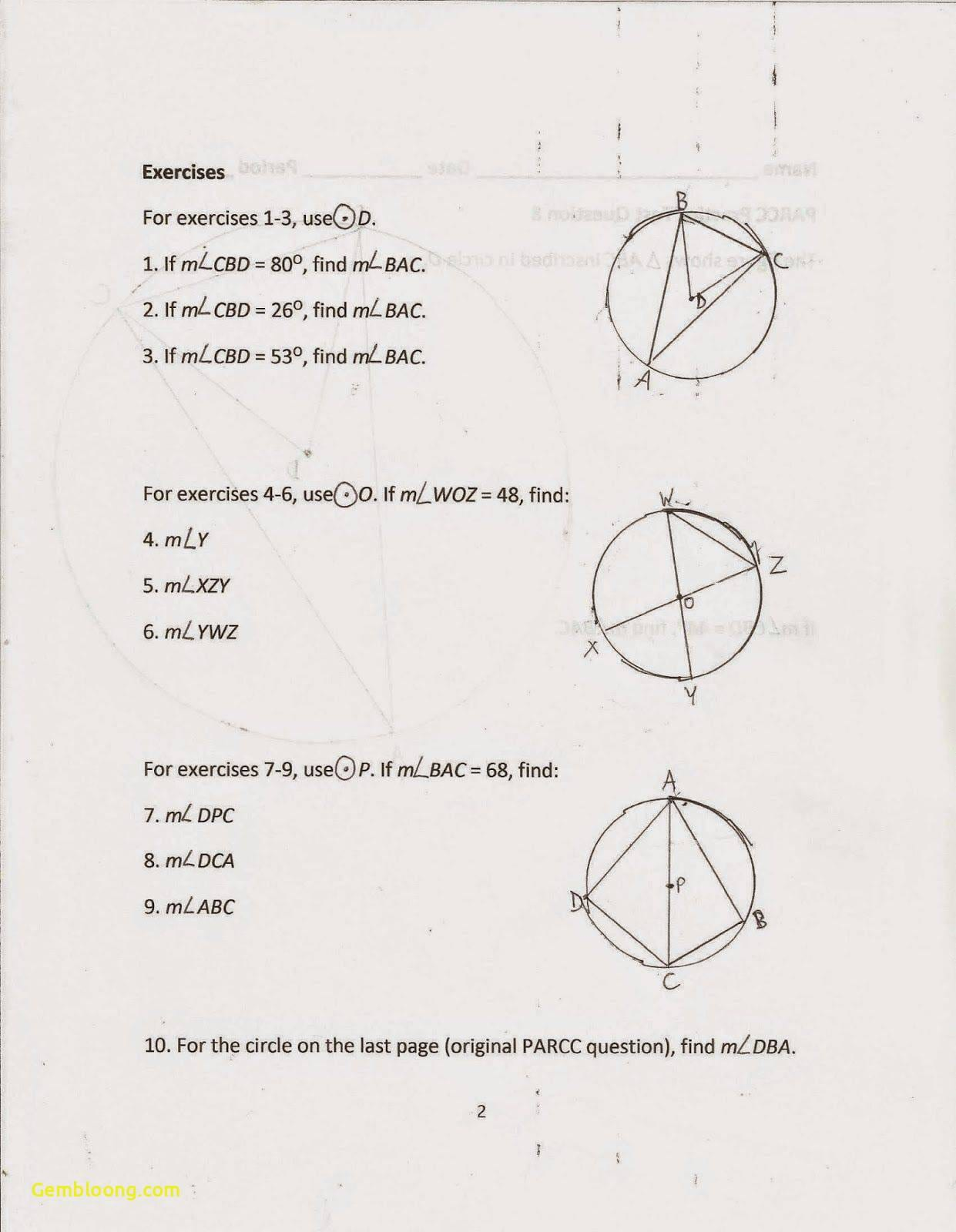 Angles Formedparallel Lines Worksheet Answers Milliken