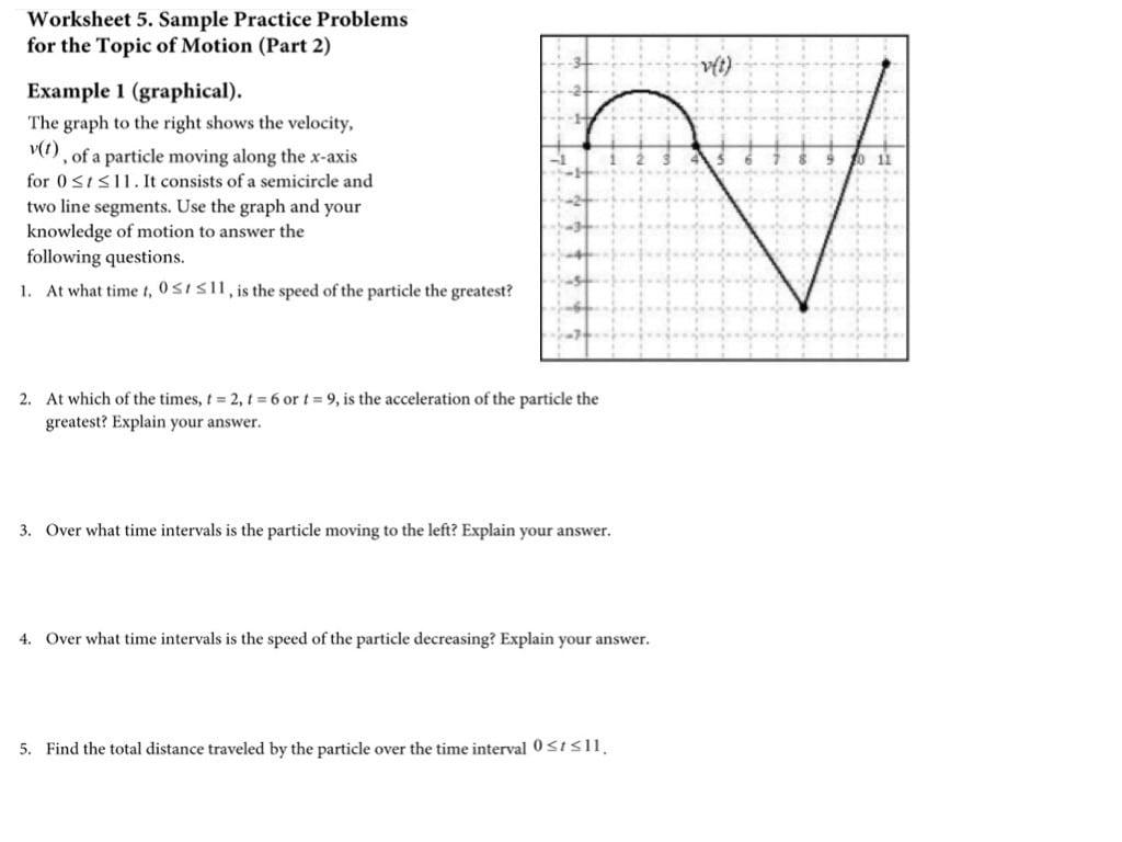 Ap Calc Interpreting Graphs 4 Velocity Acceleration