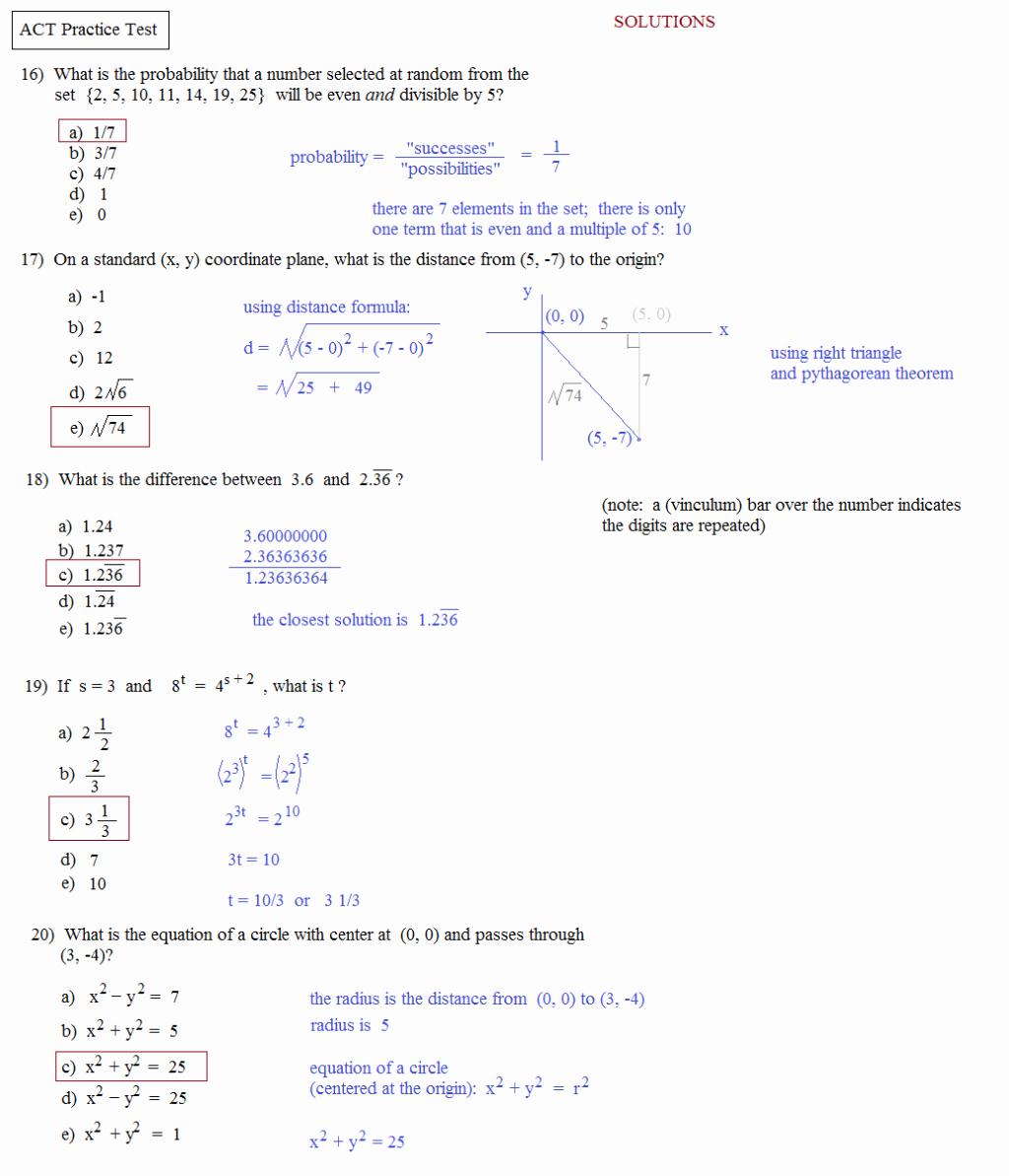 Asvab Math Practice Worksheet