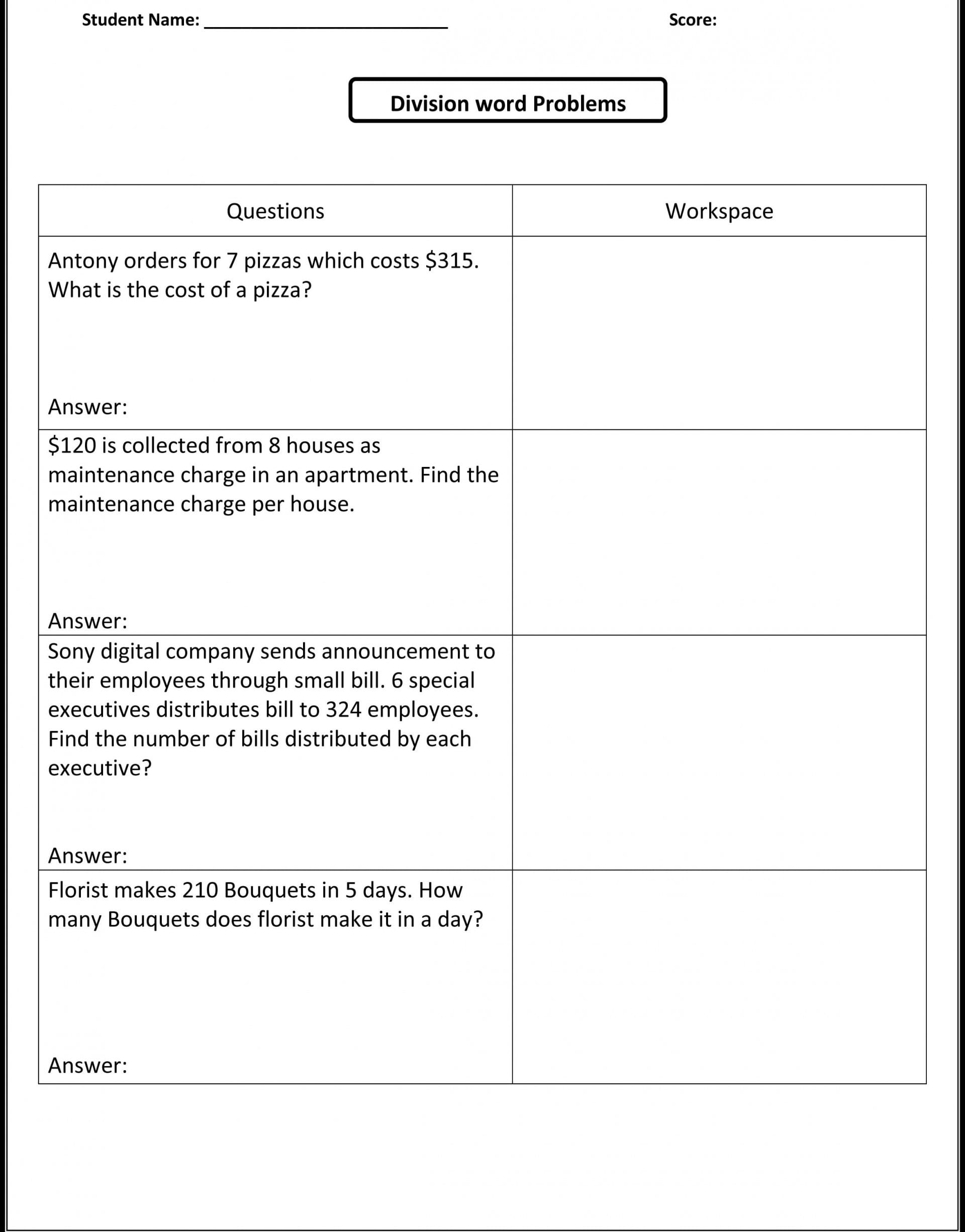 Awesome Printable Ratio Word Problems And Proportion