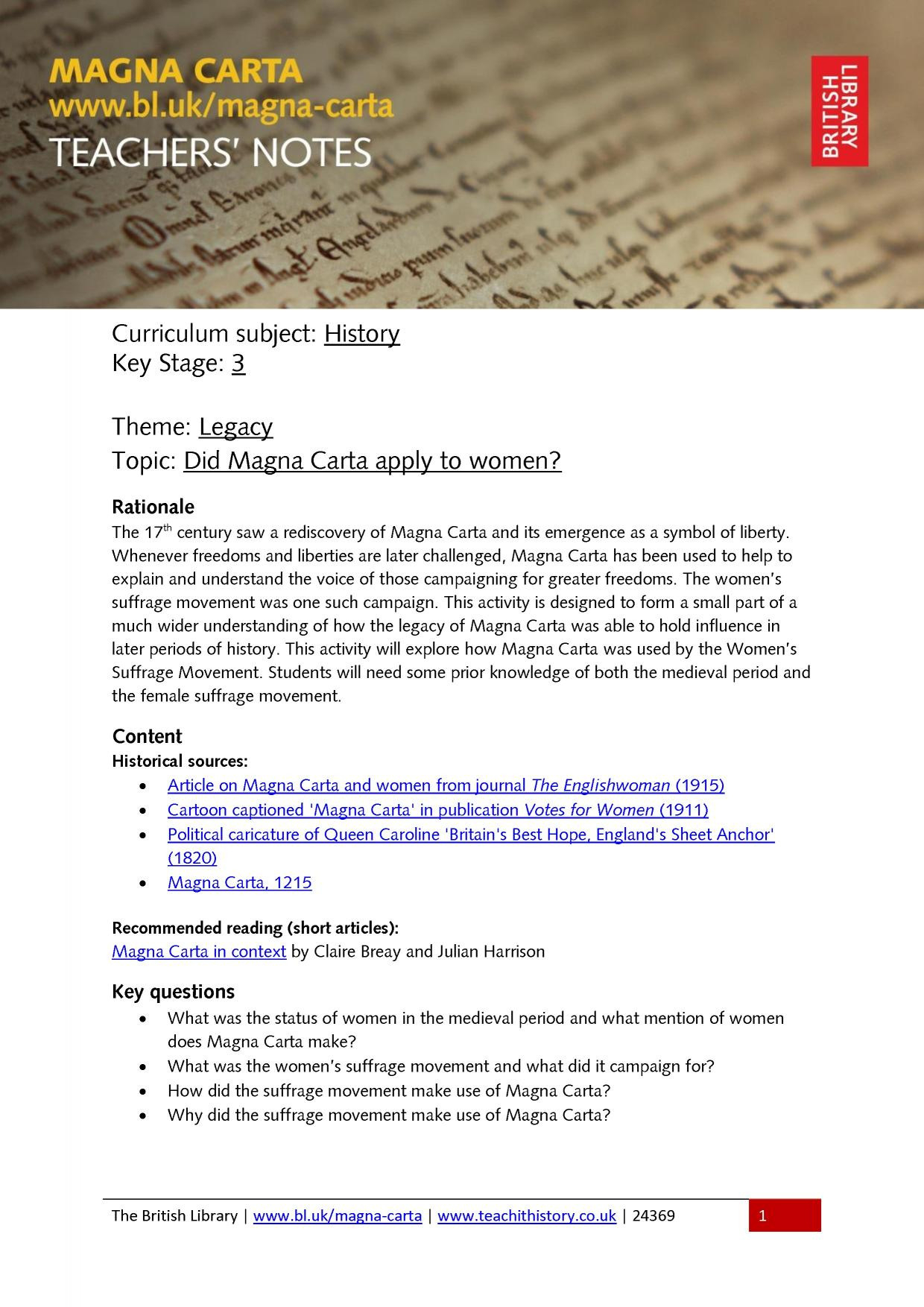 British Library Magna Carta Resources Search Results