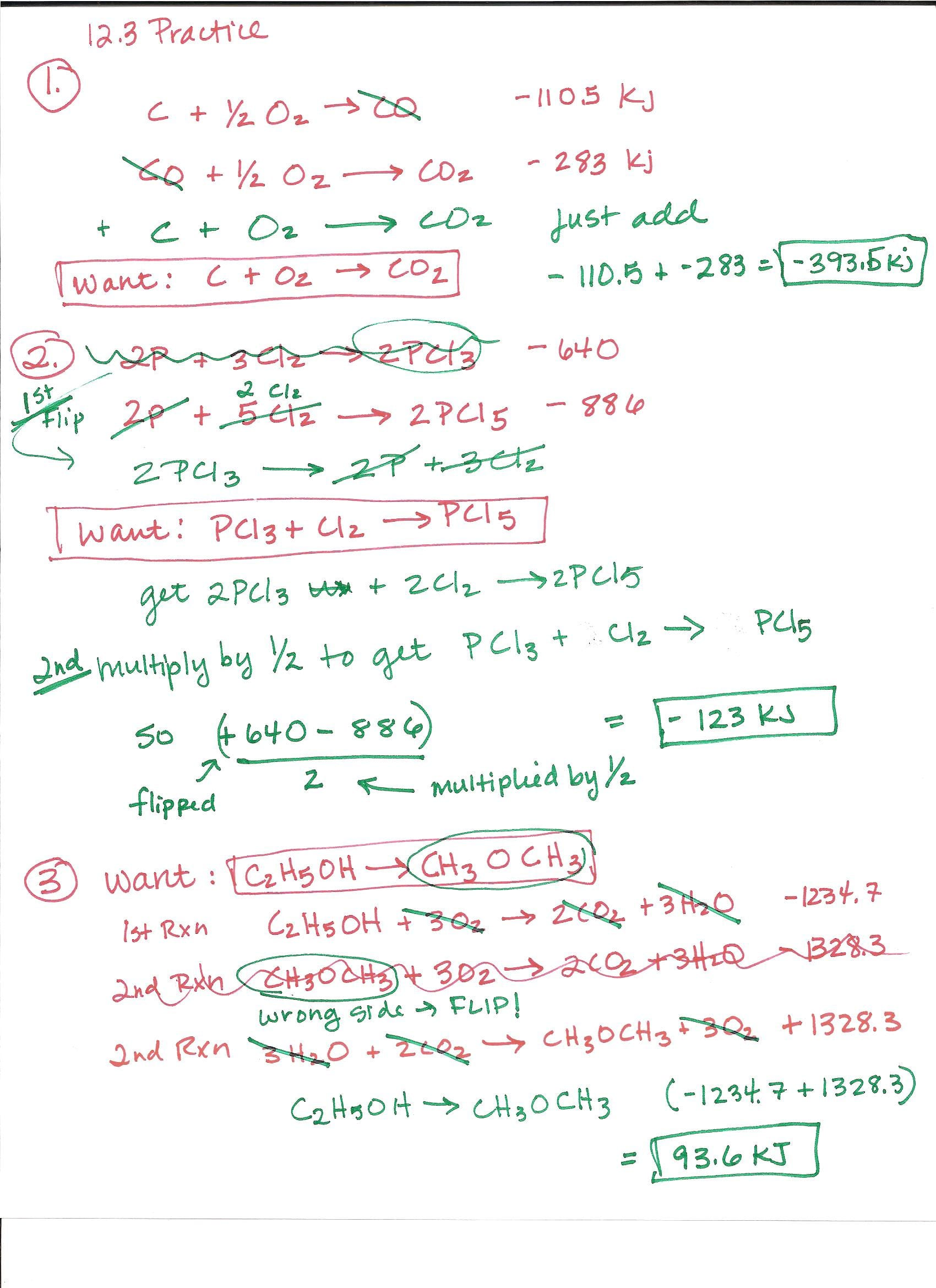 Ap Chemistry Worksheets With Answers