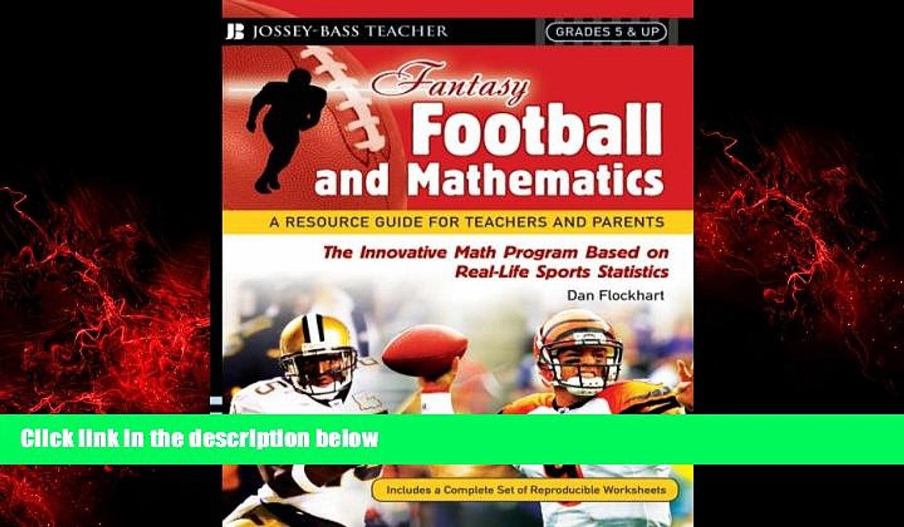 Choose Book Fantasy Football And Mathematics A Resource