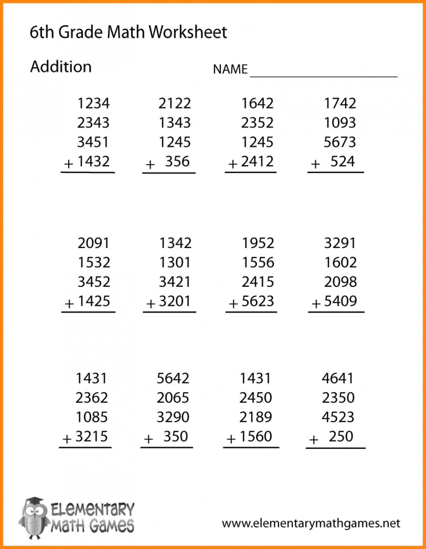 Common Core 6th Grade Math Worksheets Kindergarten Maths