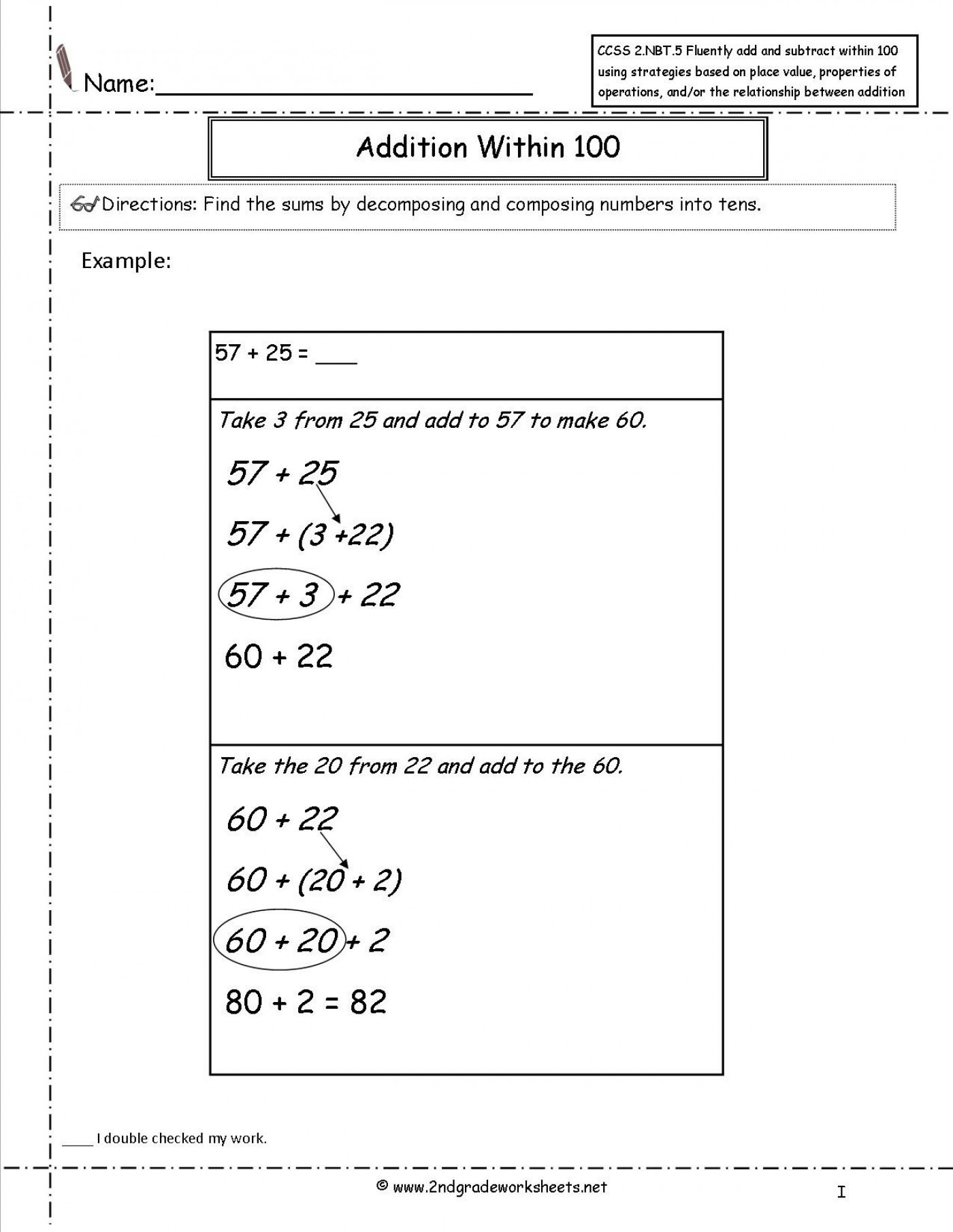 Common Core Math Worksheets Grade Third Division Worksheet