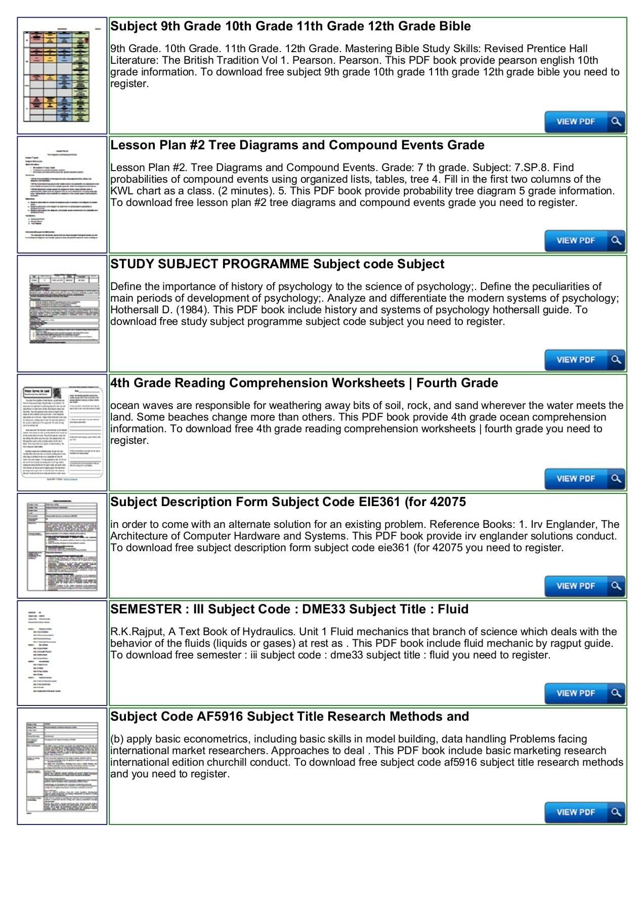Study Skills Worksheets