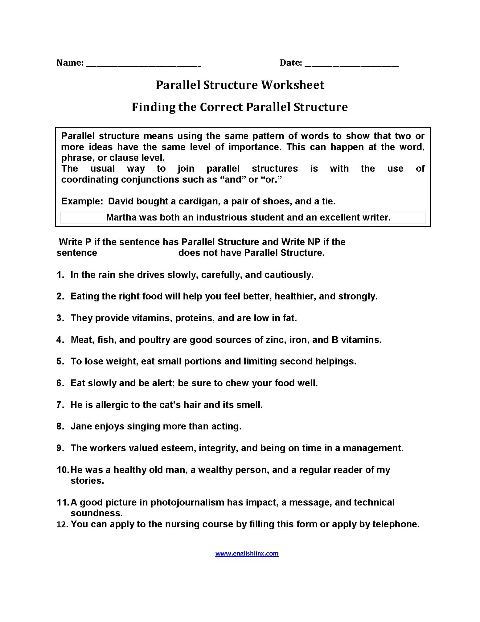 Correlative Conjunctions Worksheets With Answers