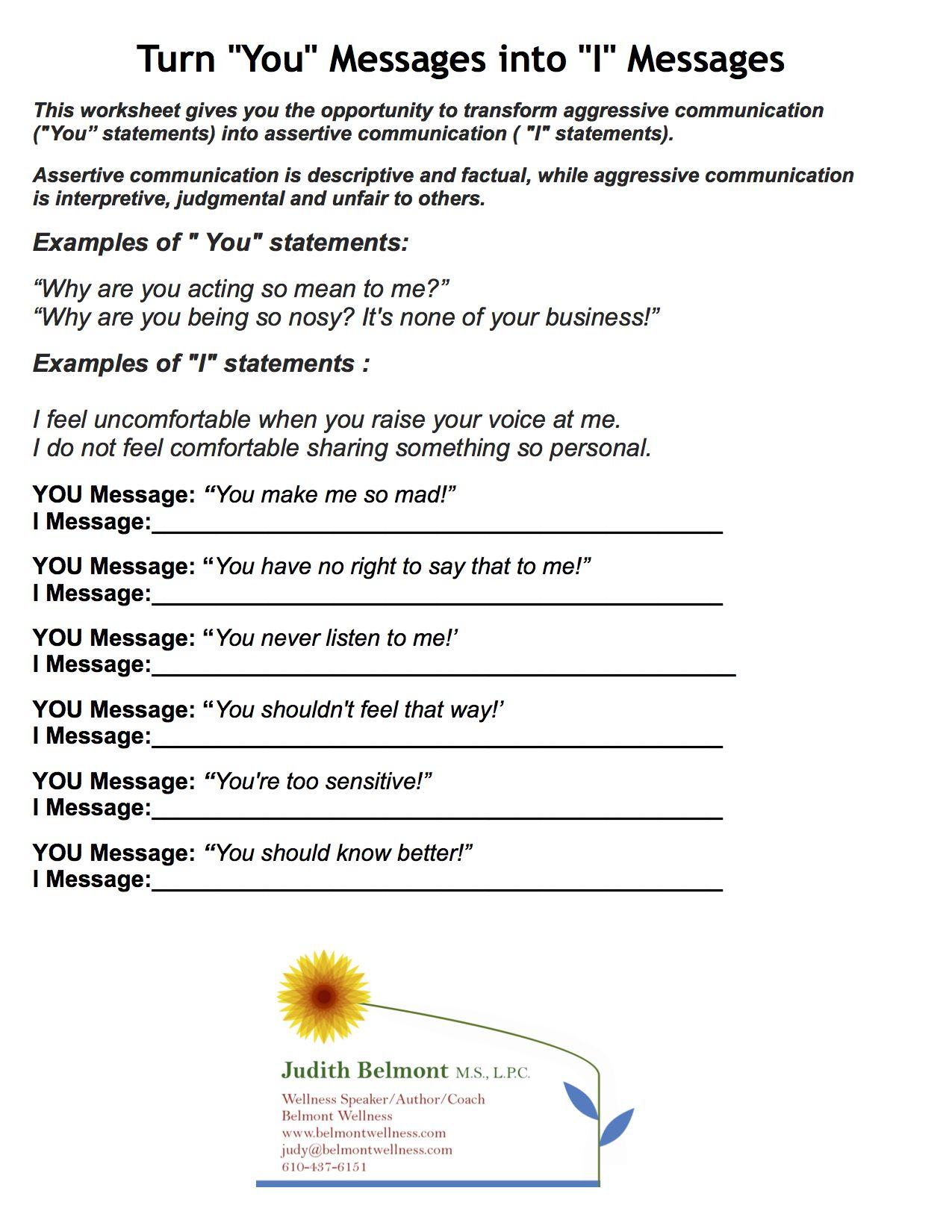 Boundaries Worksheet Therapy