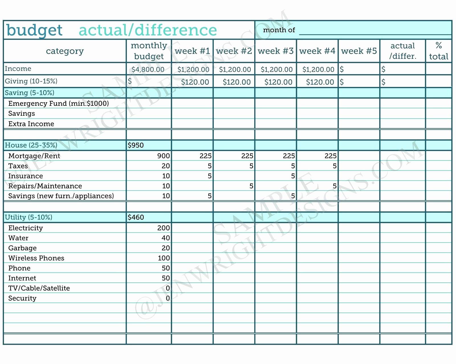 Dave Ramsey Budget Spreadsheet Excel Ilaajonline