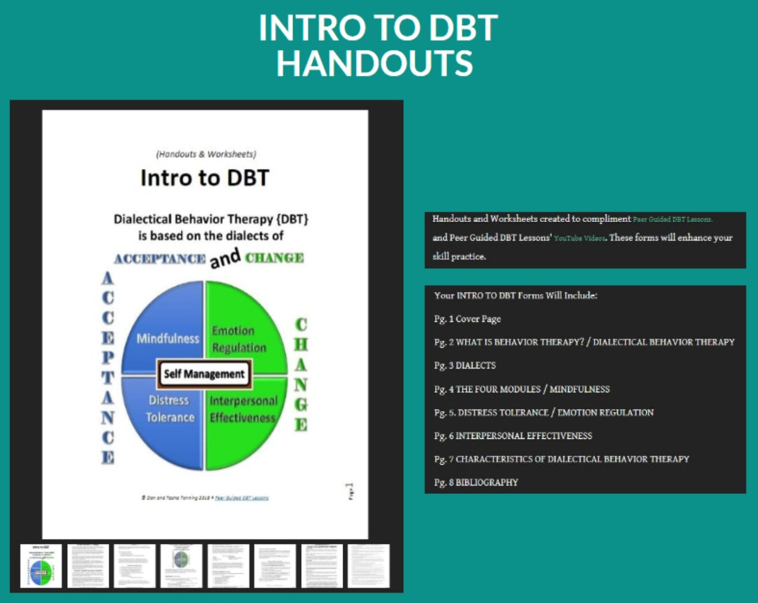Dbt Lesson 01 Introduction To Dialectical Behavior Therapy