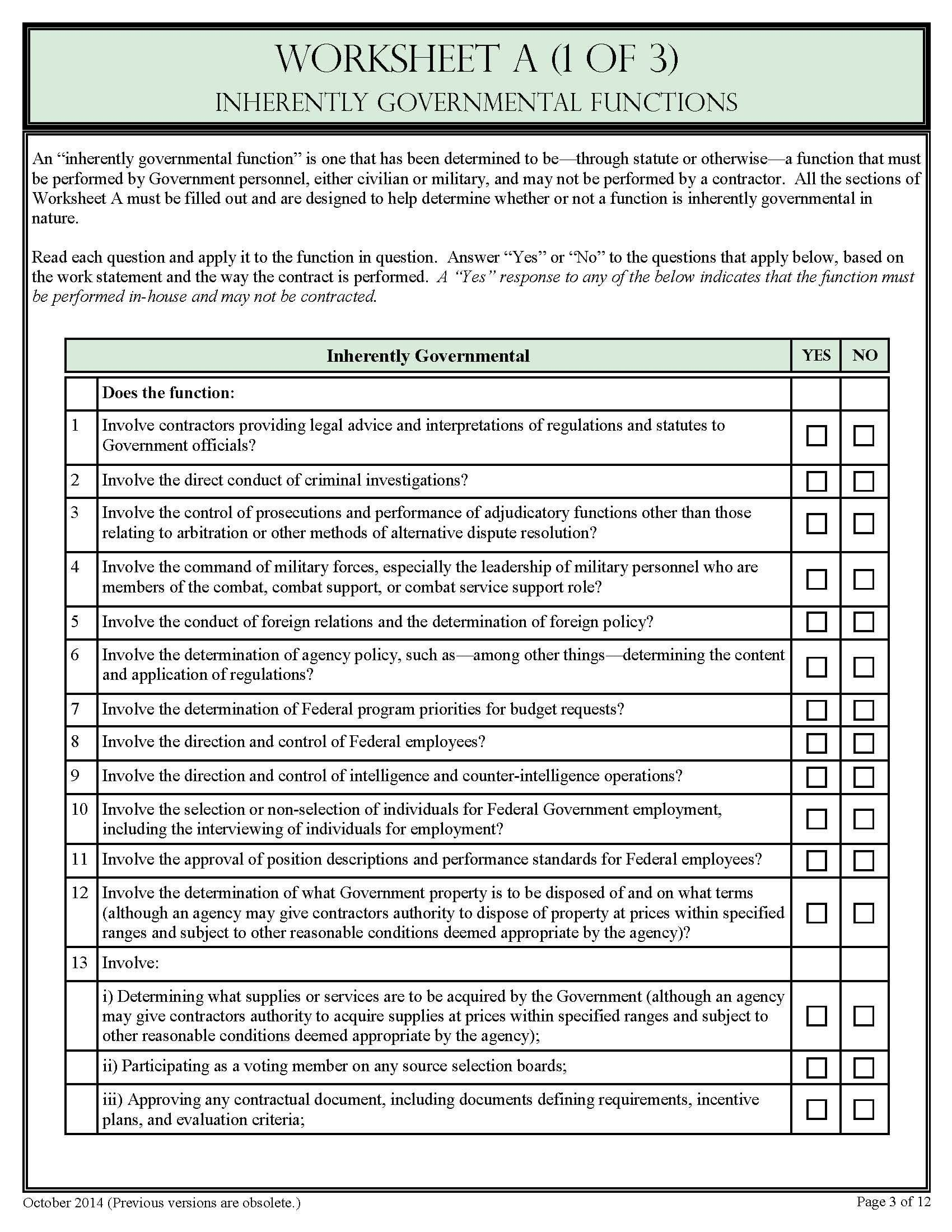 Deliberate Risk Assessment Worksheet For Range