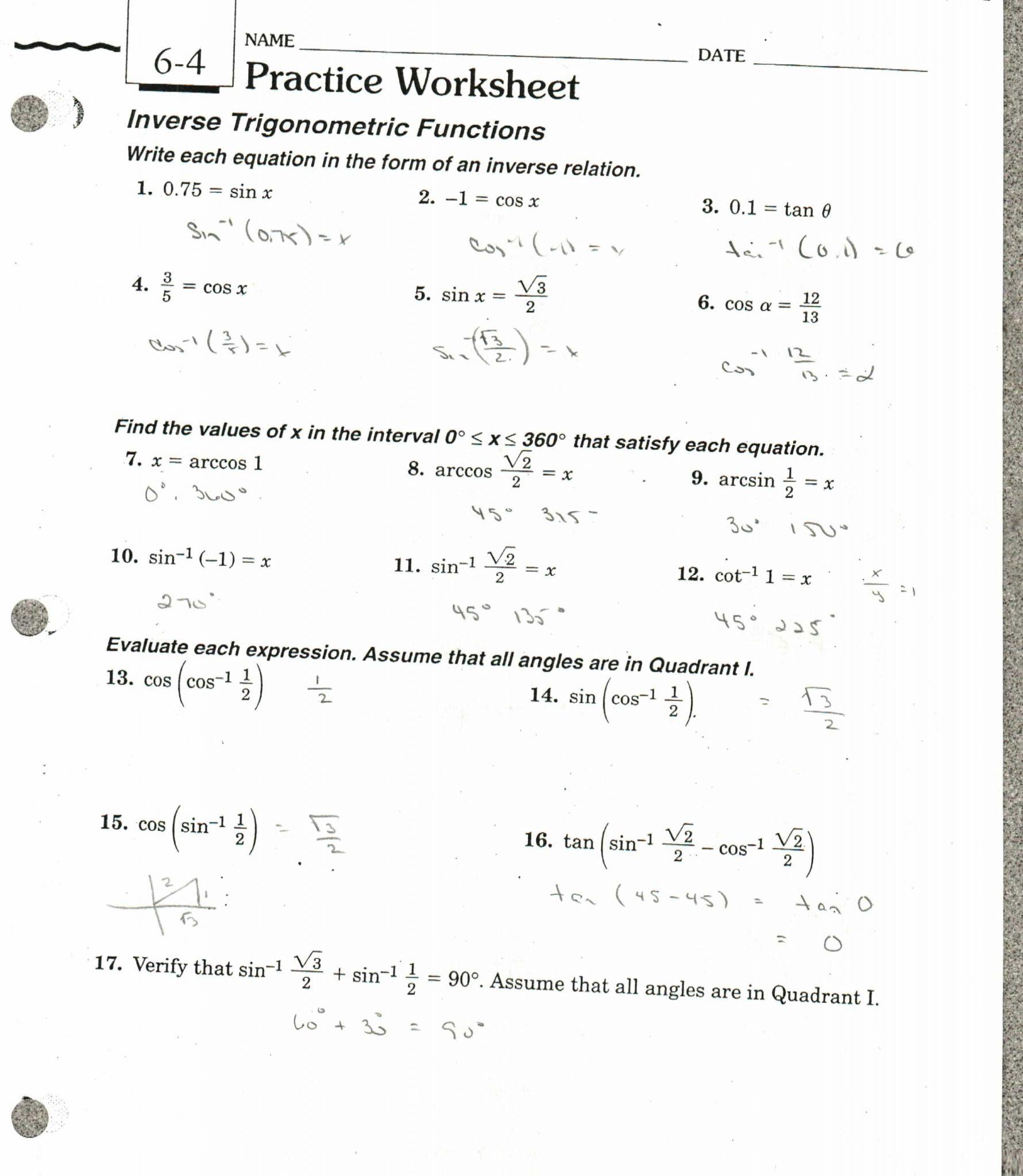 Inverse Function Word Problems Worksheet Db Excel