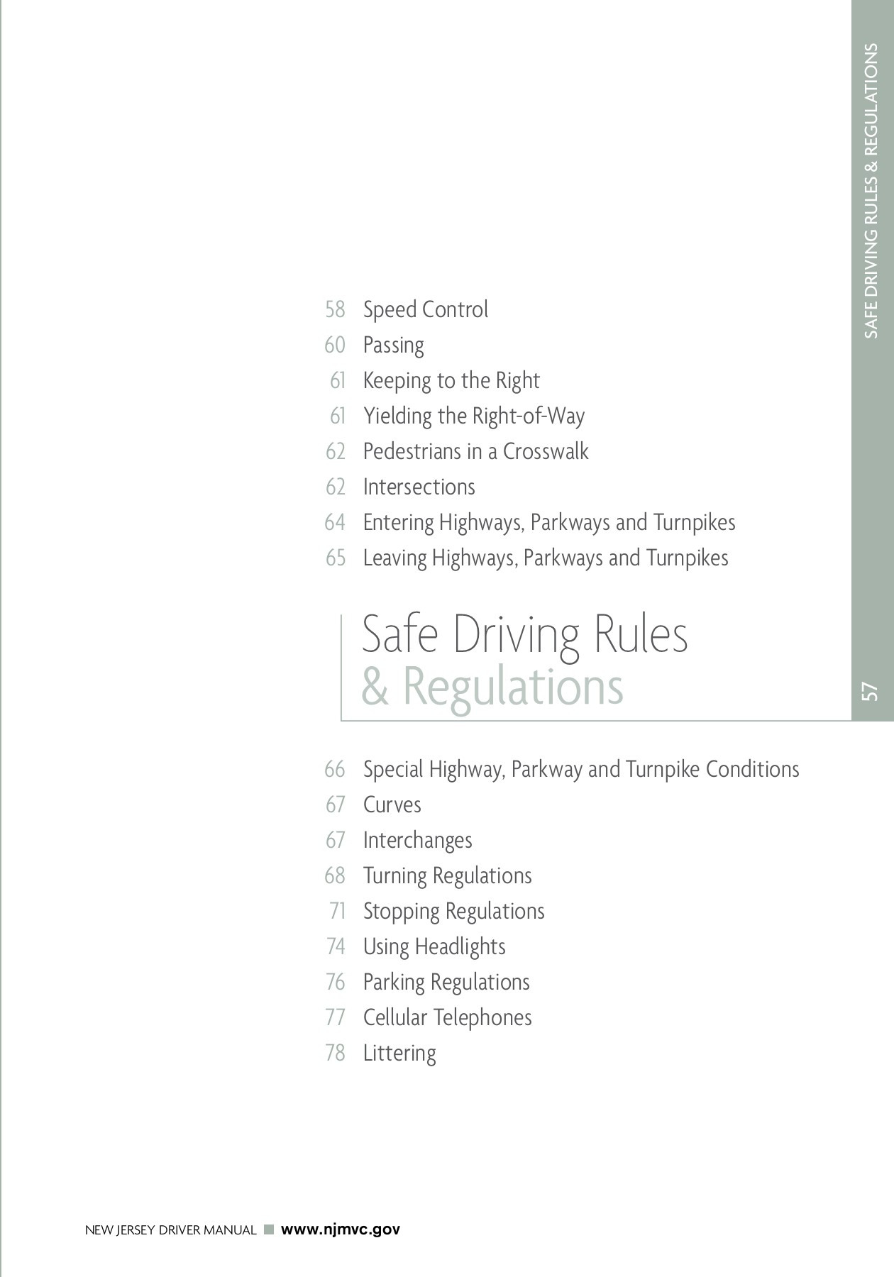 Driver Manual Chapter 4 State Of New Jersey Pages 1 24