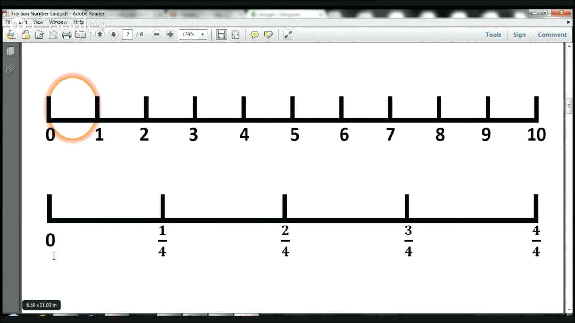 Free Fraction Number Line Worksheets 3rd Grade