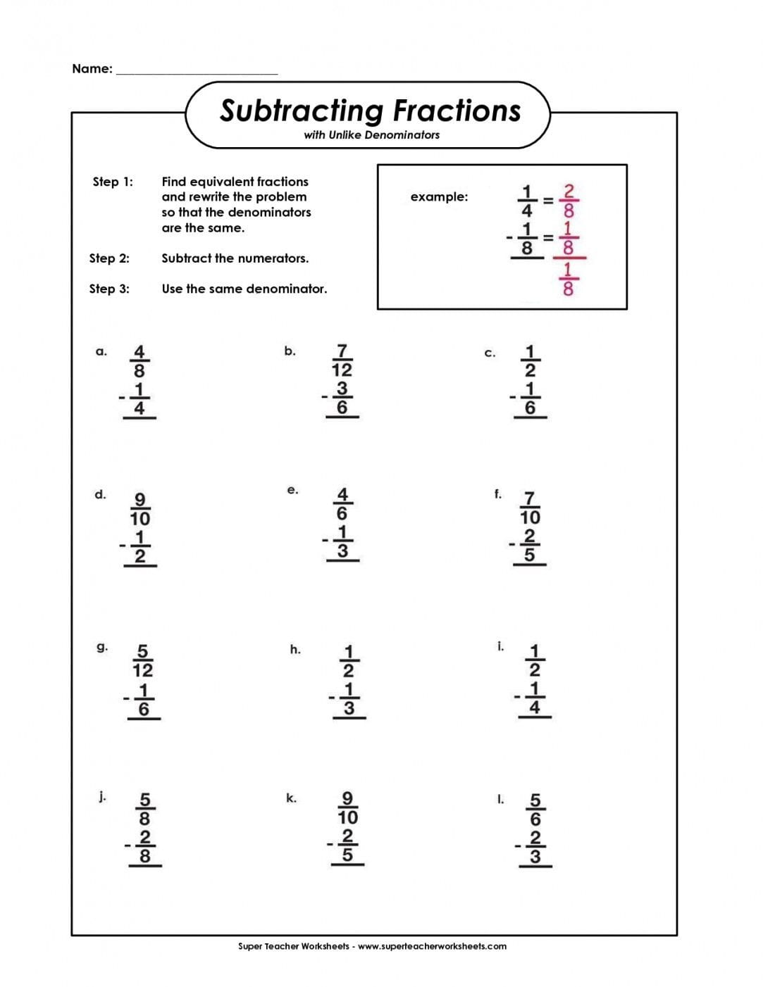 Equivalent Fractions Worksheet 4th Grade To Free Download