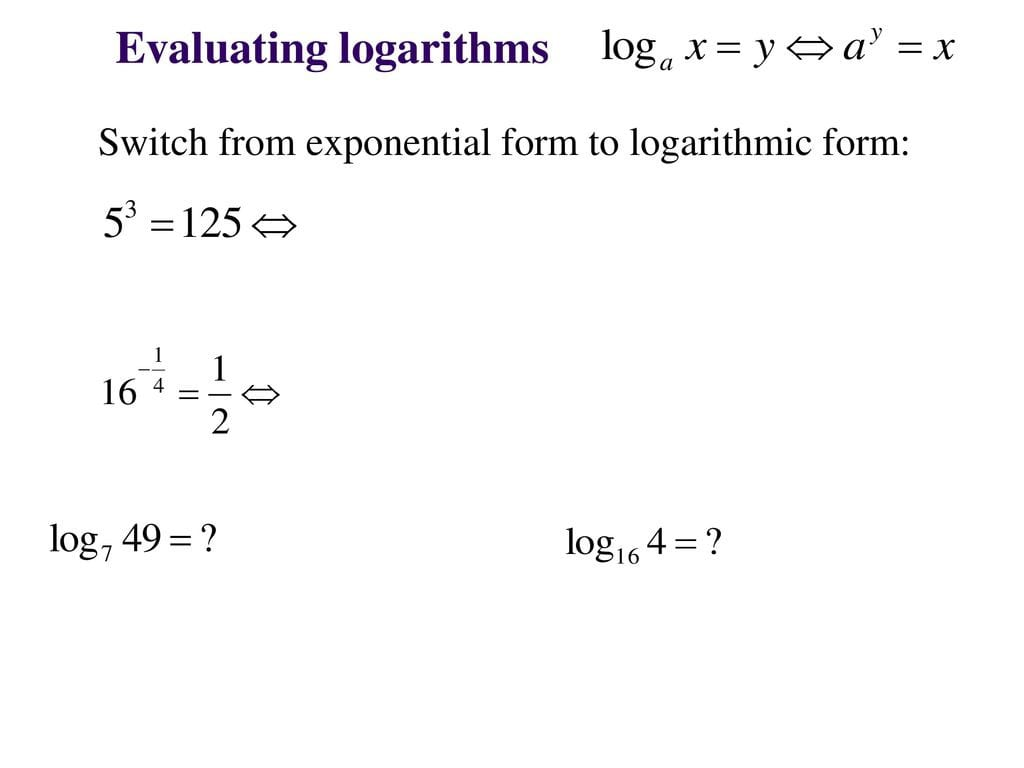 Exponential And Logarithm Functions Ppt Video Online