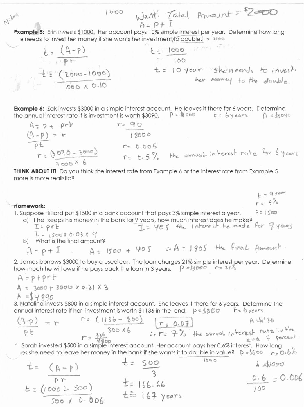 Fact Finder Simple Simple Interest Worksheet Awesome Line