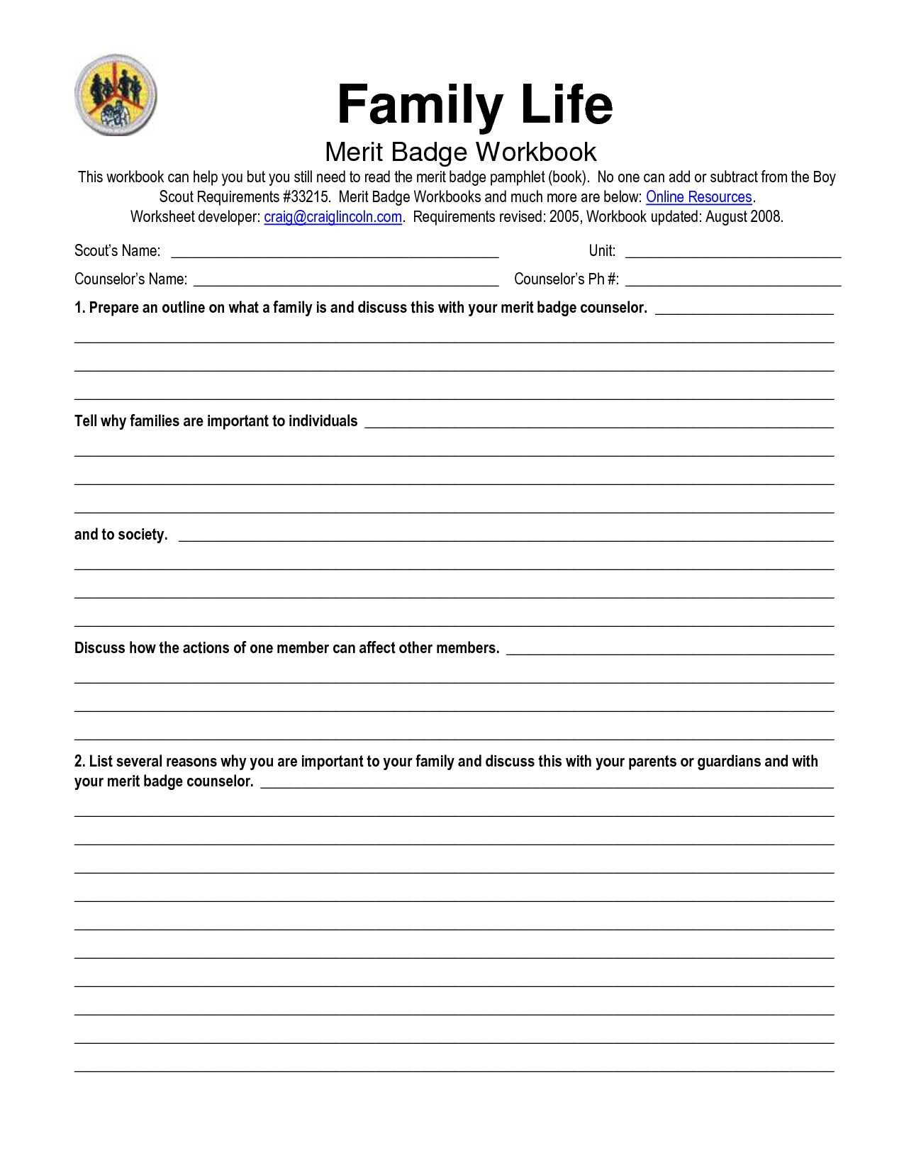 Family Therapy Worksheets Db Excel