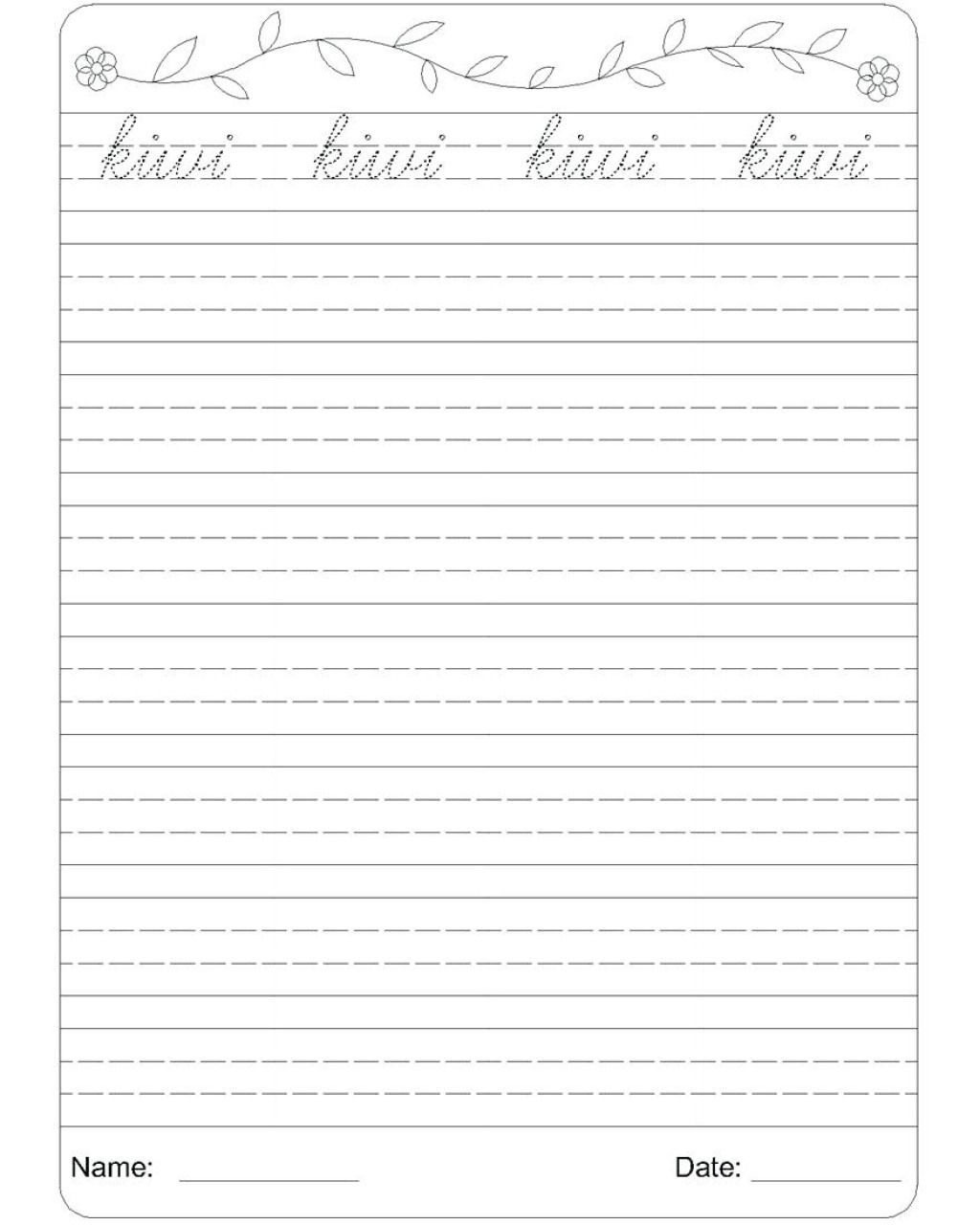 Fearsome Cursive Writing Words Worksheets Printable Word