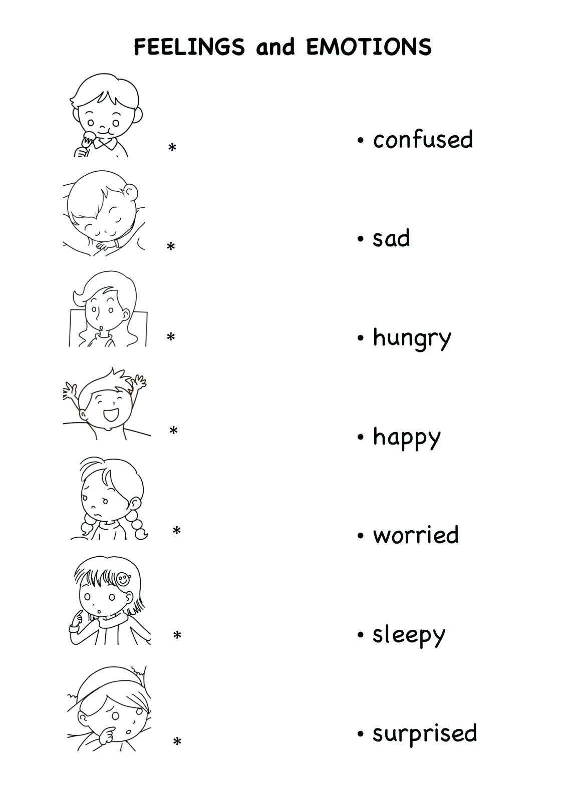 Feelings And Emotions Worksheets Emotion For Kids Teaching