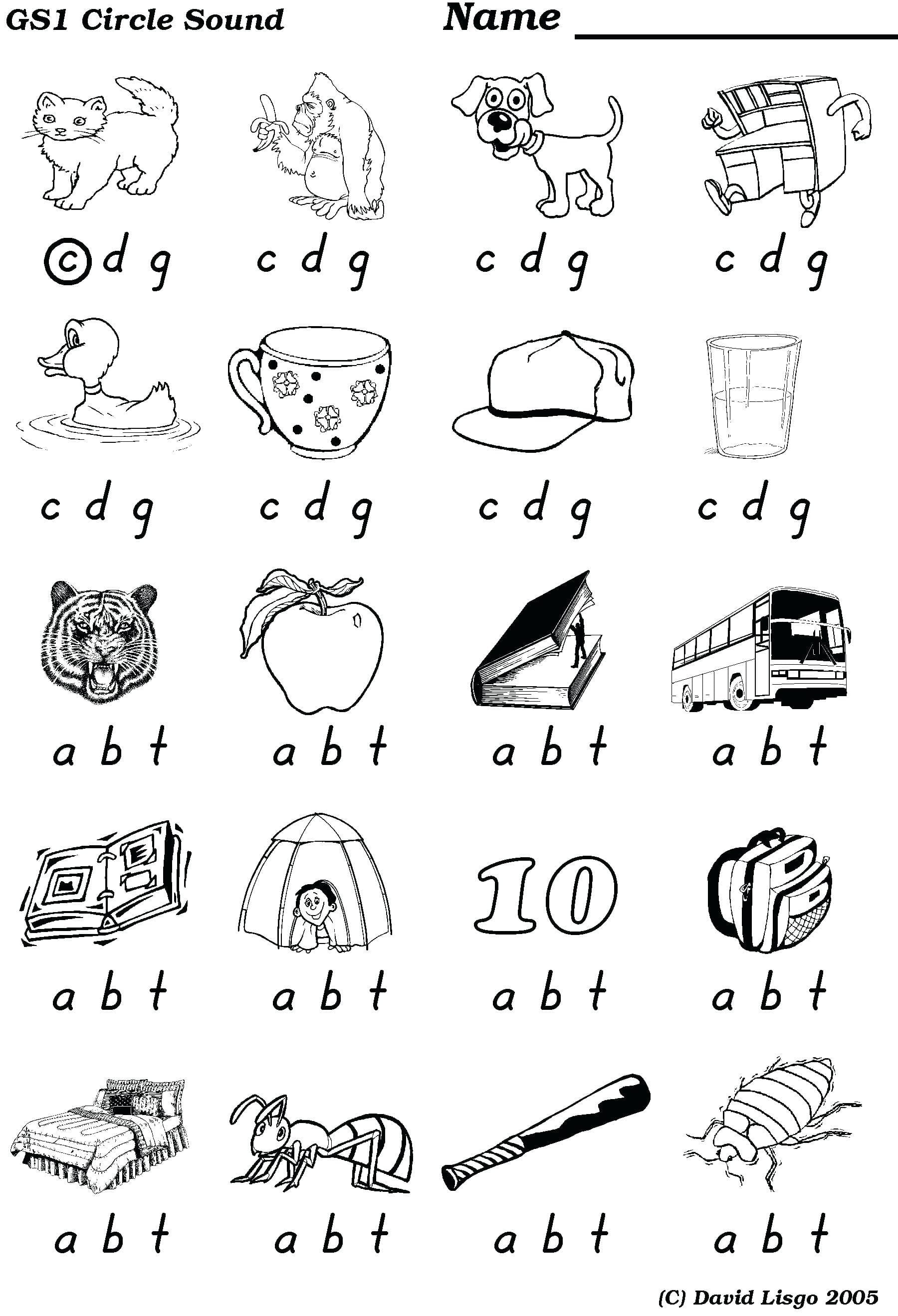 Final Consonant Sounds Worksheets Reddogsheetco