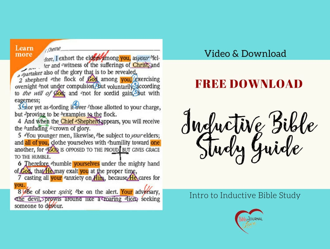 Free Inductive Bible Study Guide Bible Journal Love