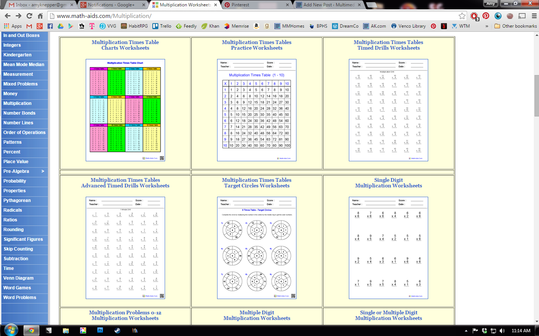 Free Math Worksheets From Mathaids Multimedia Homeschool