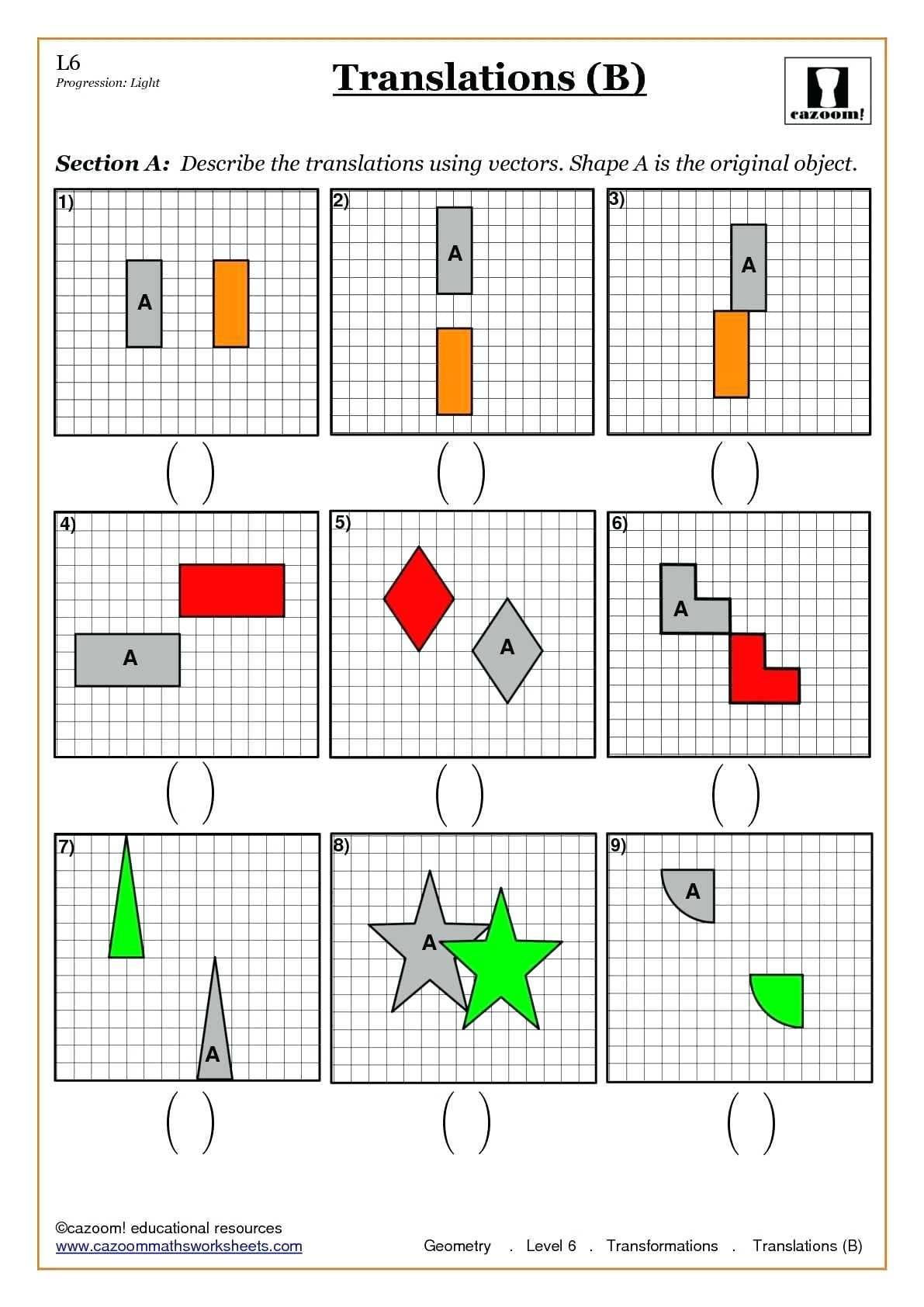 Geometric Dilations Worksheet Math Transformation Math