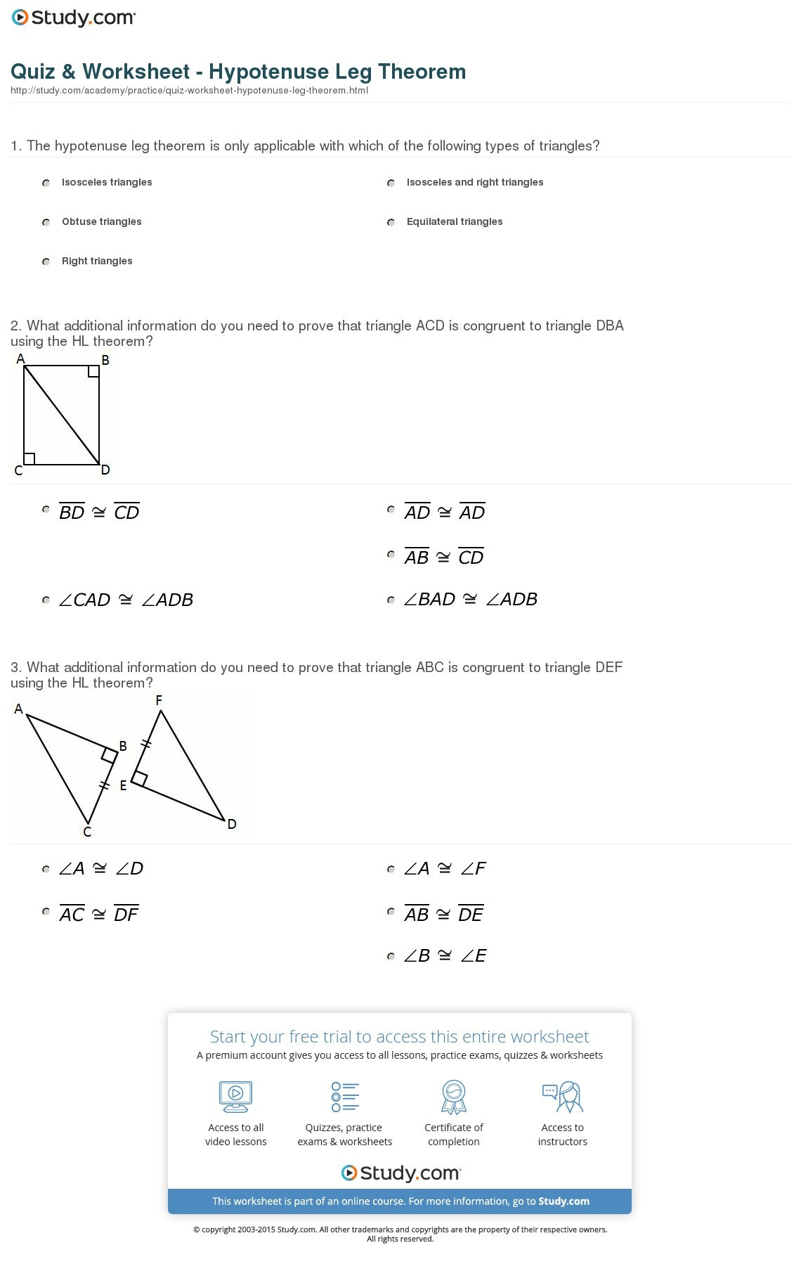 Geometry Worksheet Congruent Triangles Answers Proving