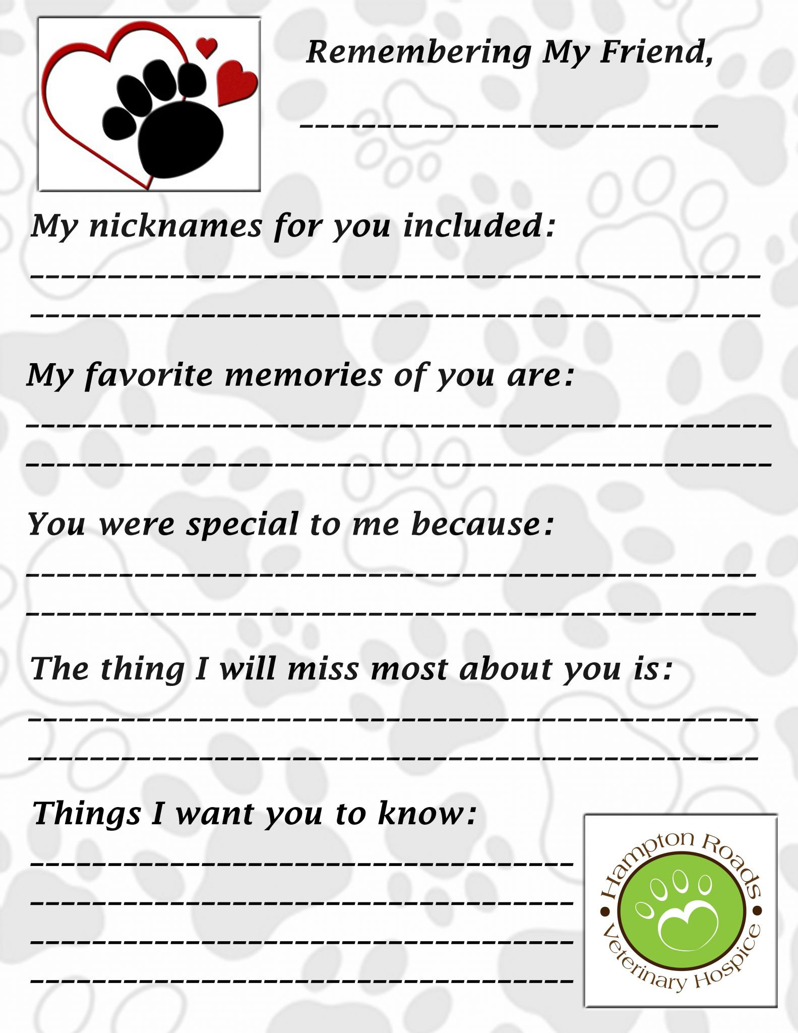 Grief And Loss Worksheets For Adults