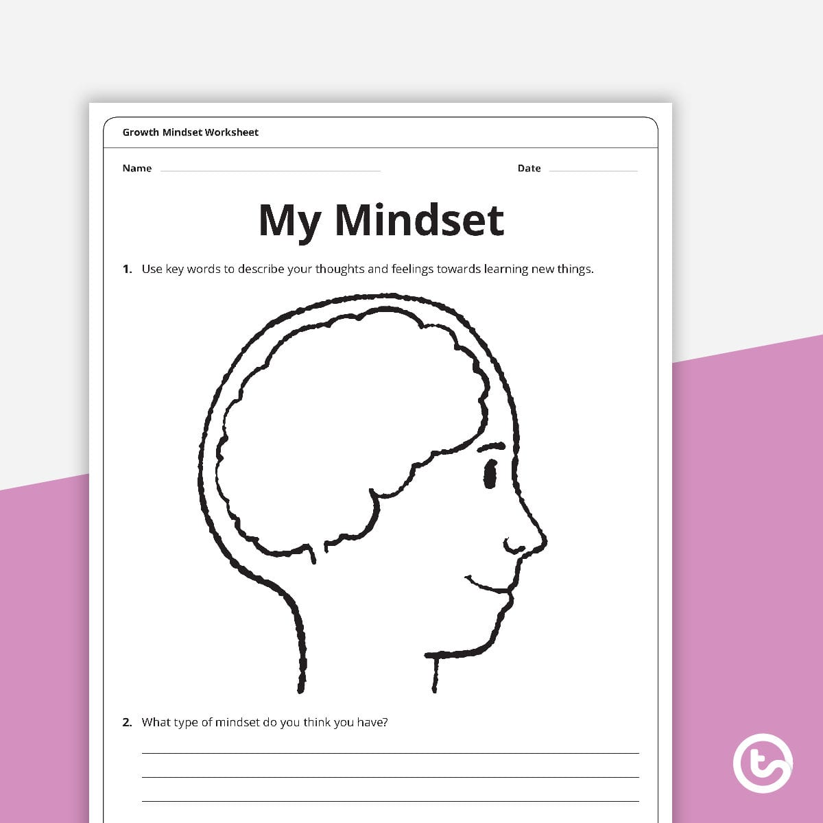 Growth Mindset Worksheets Teaching Resource Teach