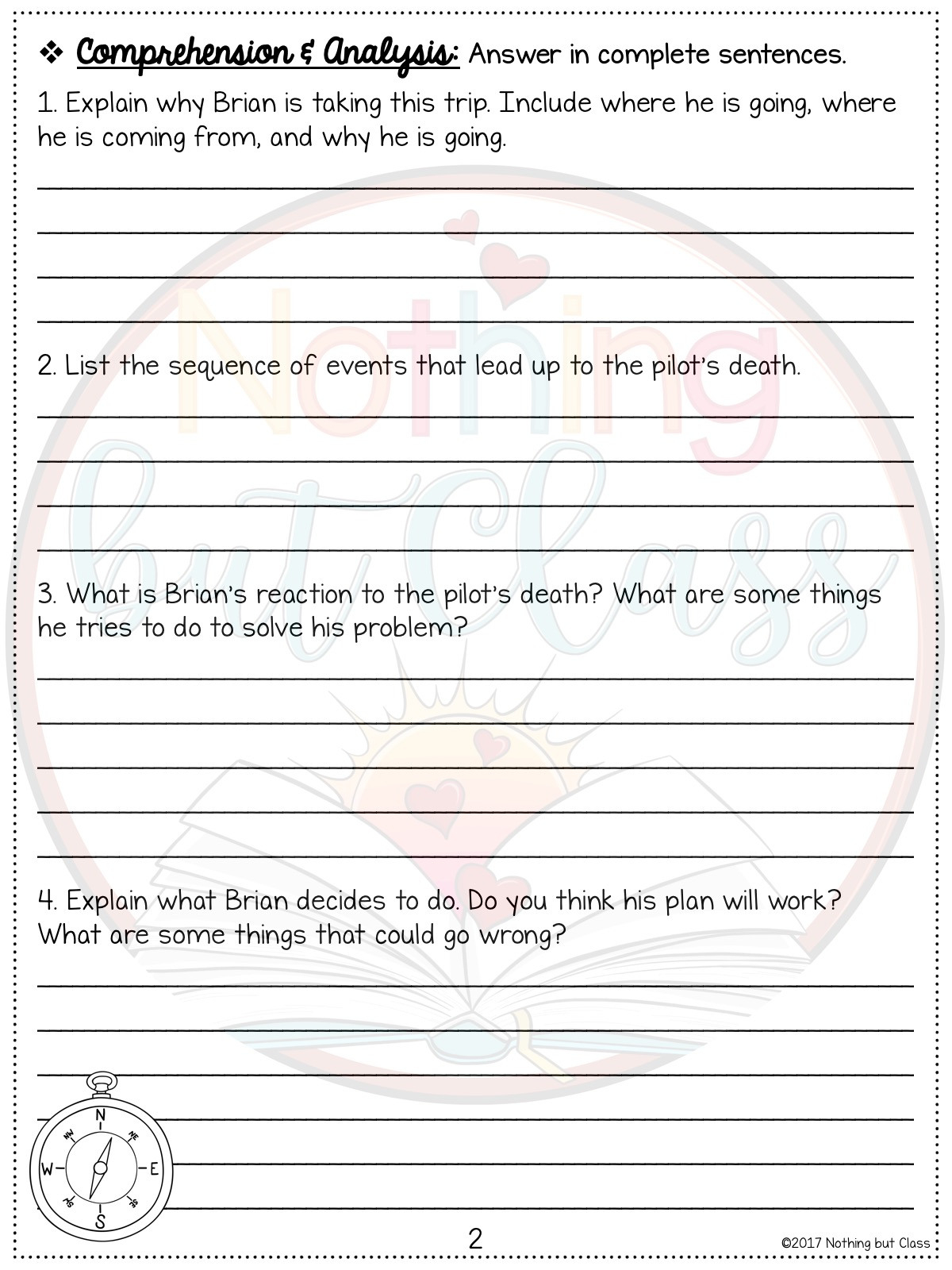 It is a photo of Hatchet Worksheets Printable within 4th grade