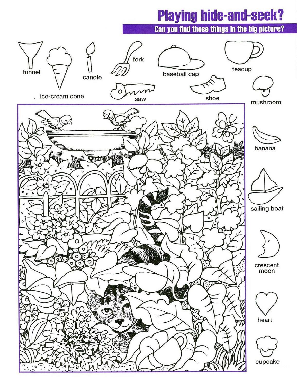 Hidden Pictures Worksheets