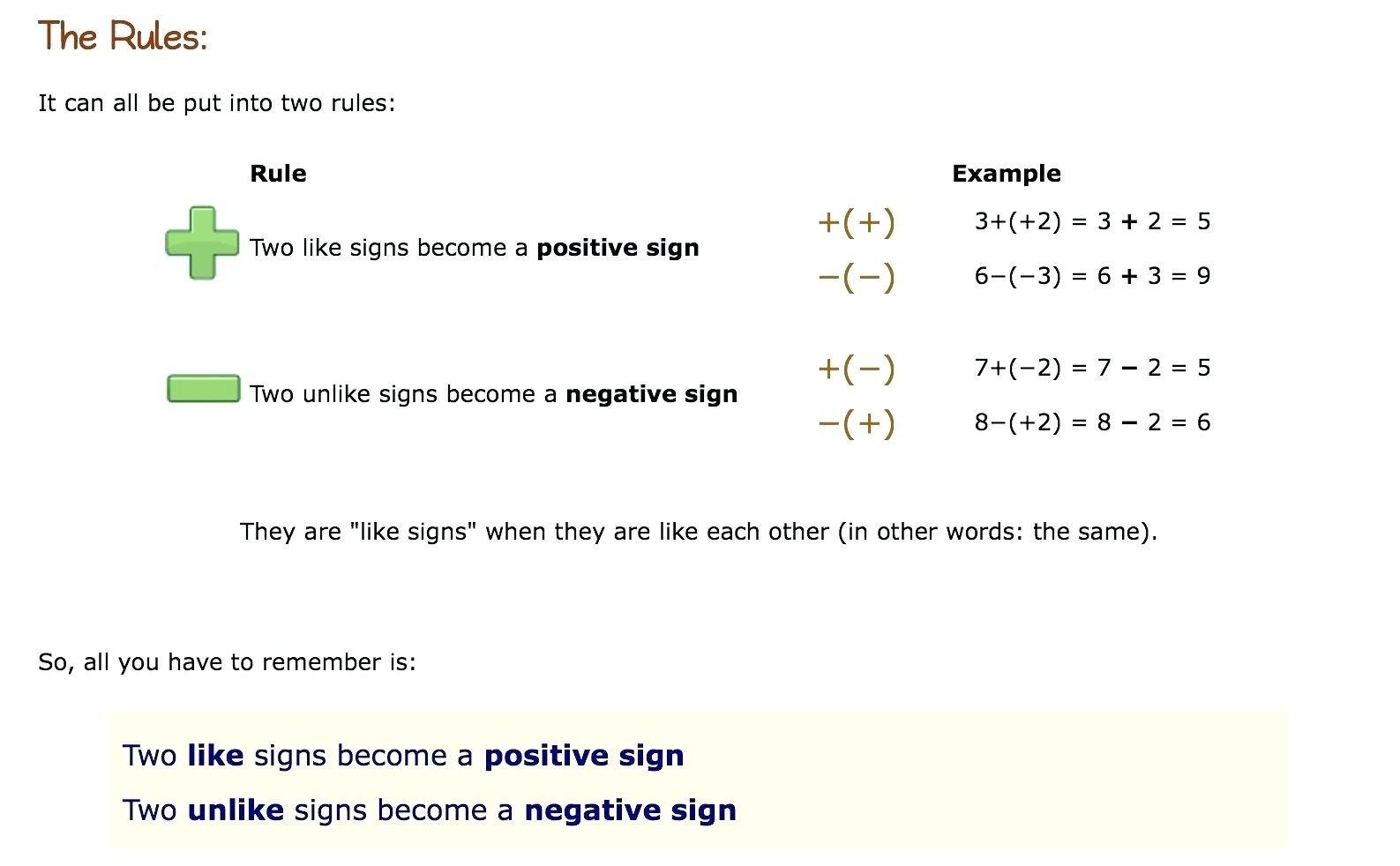How Do You Subtract Two Negative Numbers Math Kindergarten