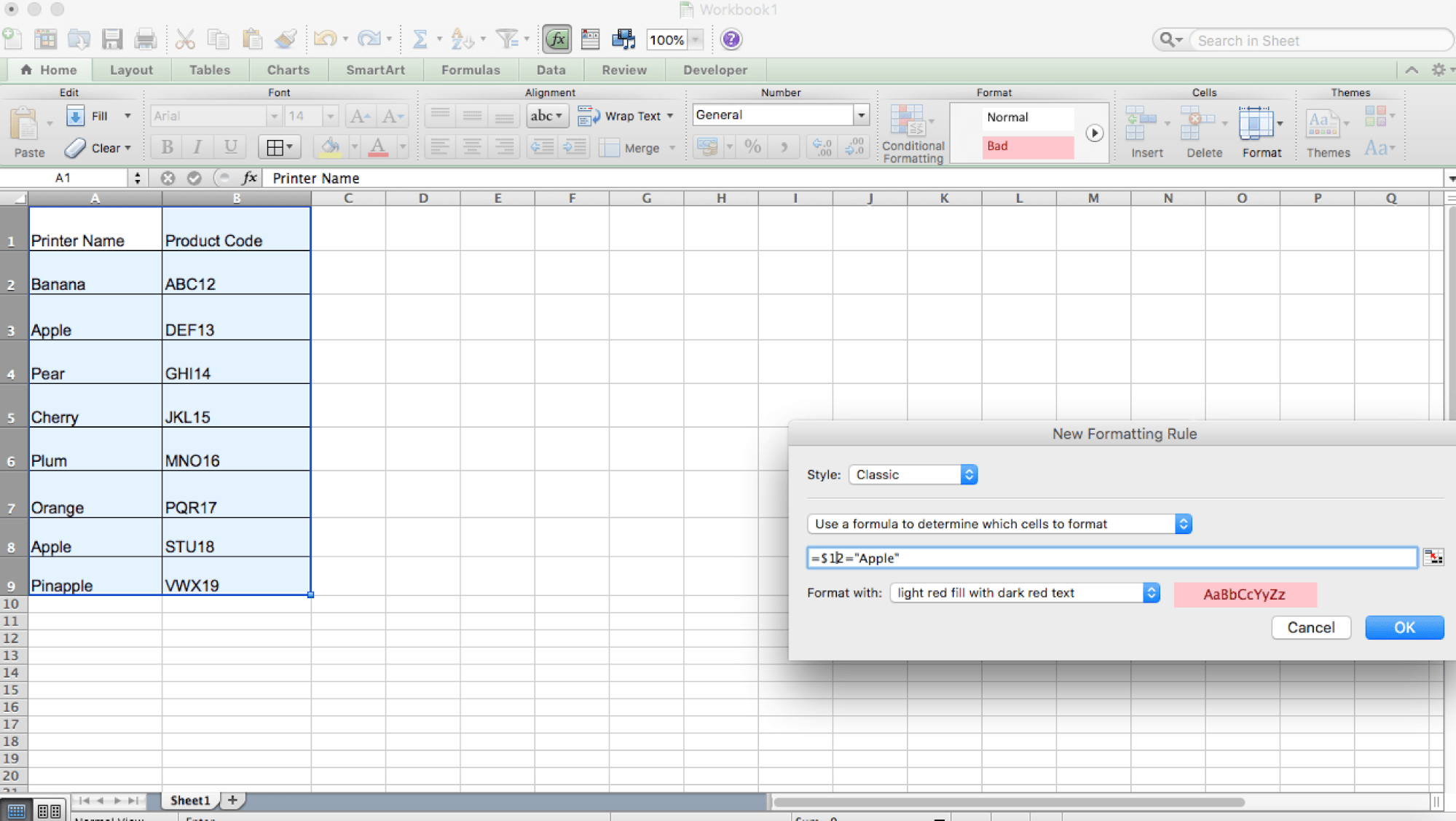 Copy Conditional Formatting To Another Worksheet