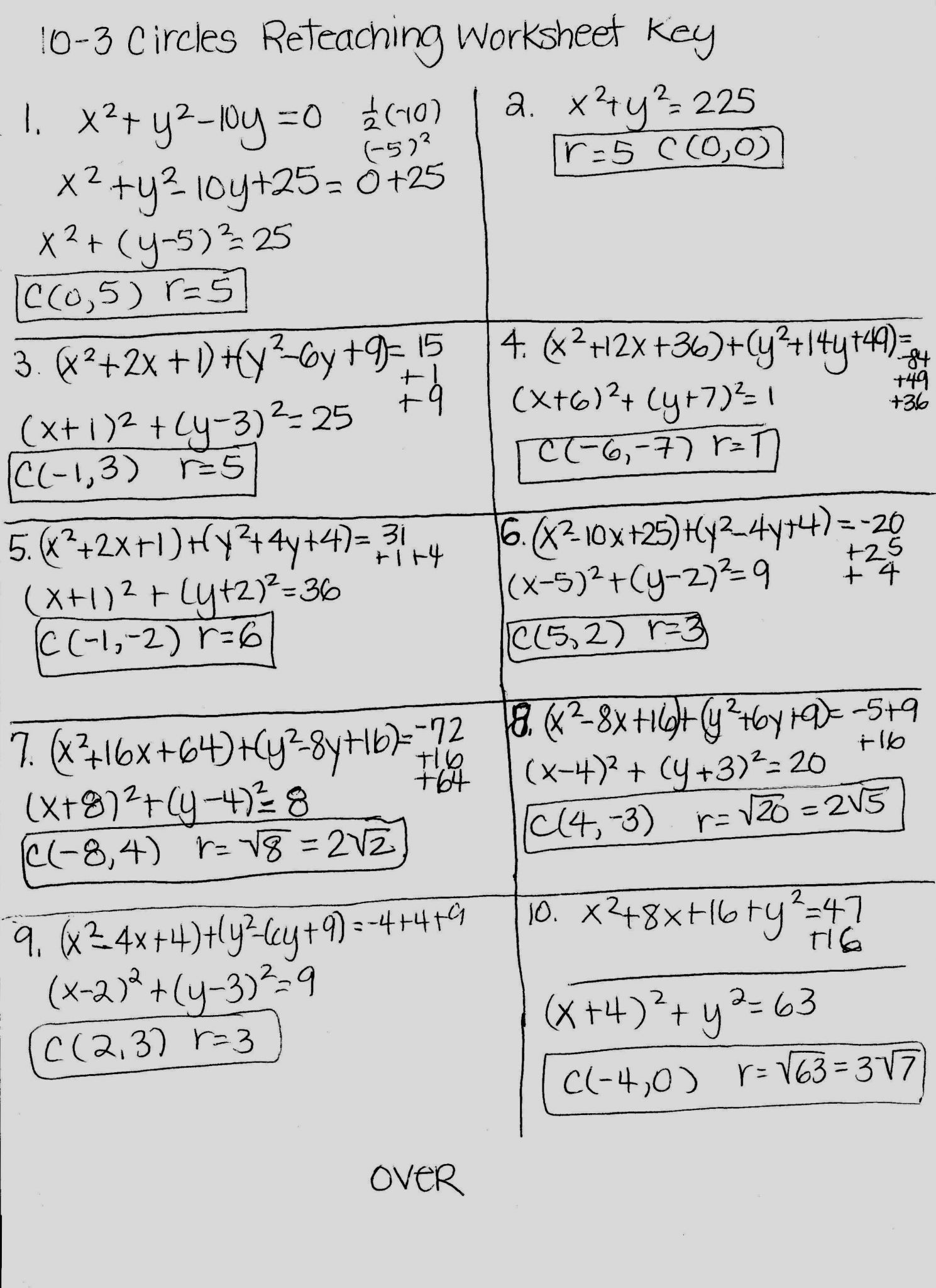 Inverse Functions Worksheet Answer Key