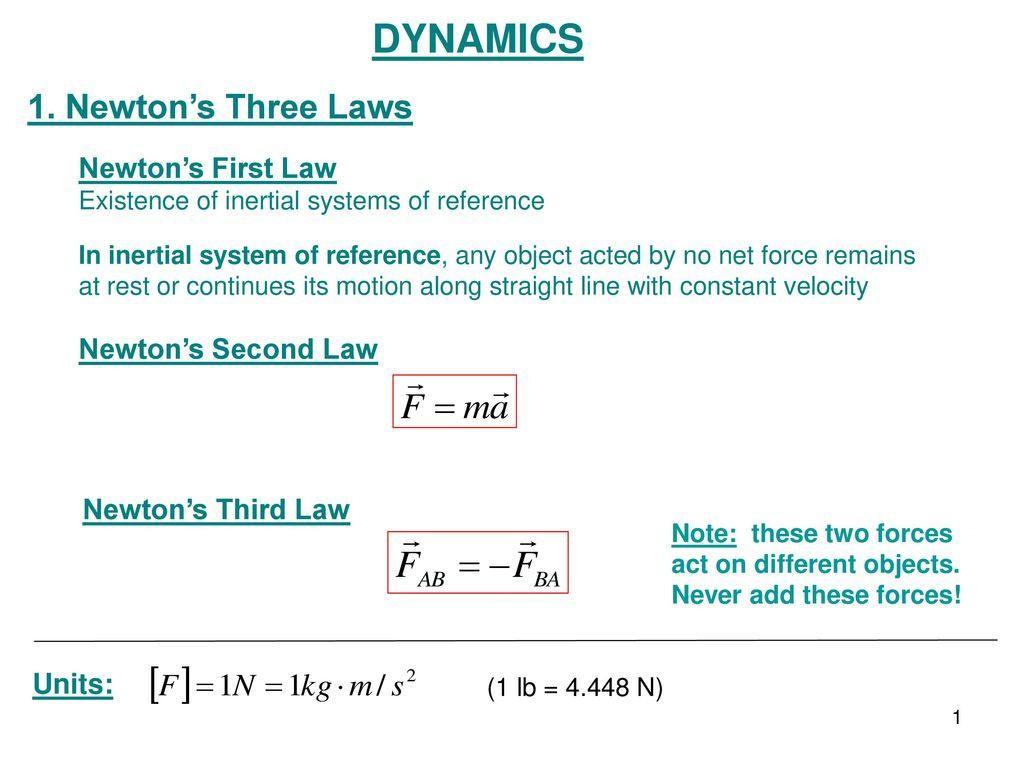 Dynamics Newton039s 1st Law Worksheet Answers