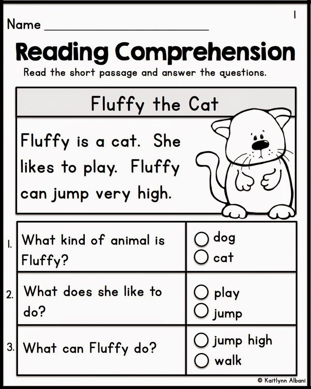 Pre K Reading Worksheets
