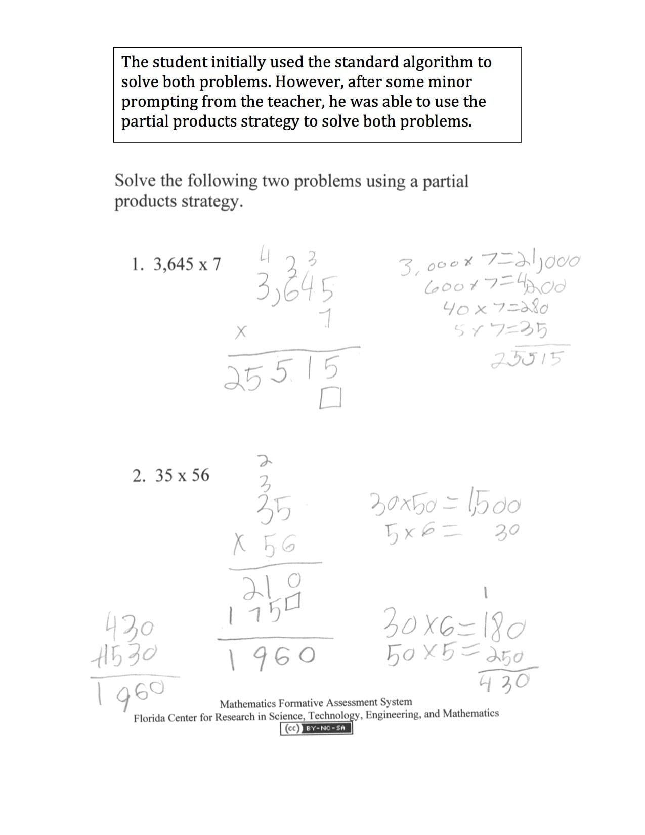 Middle School Math Assessment Worksheets