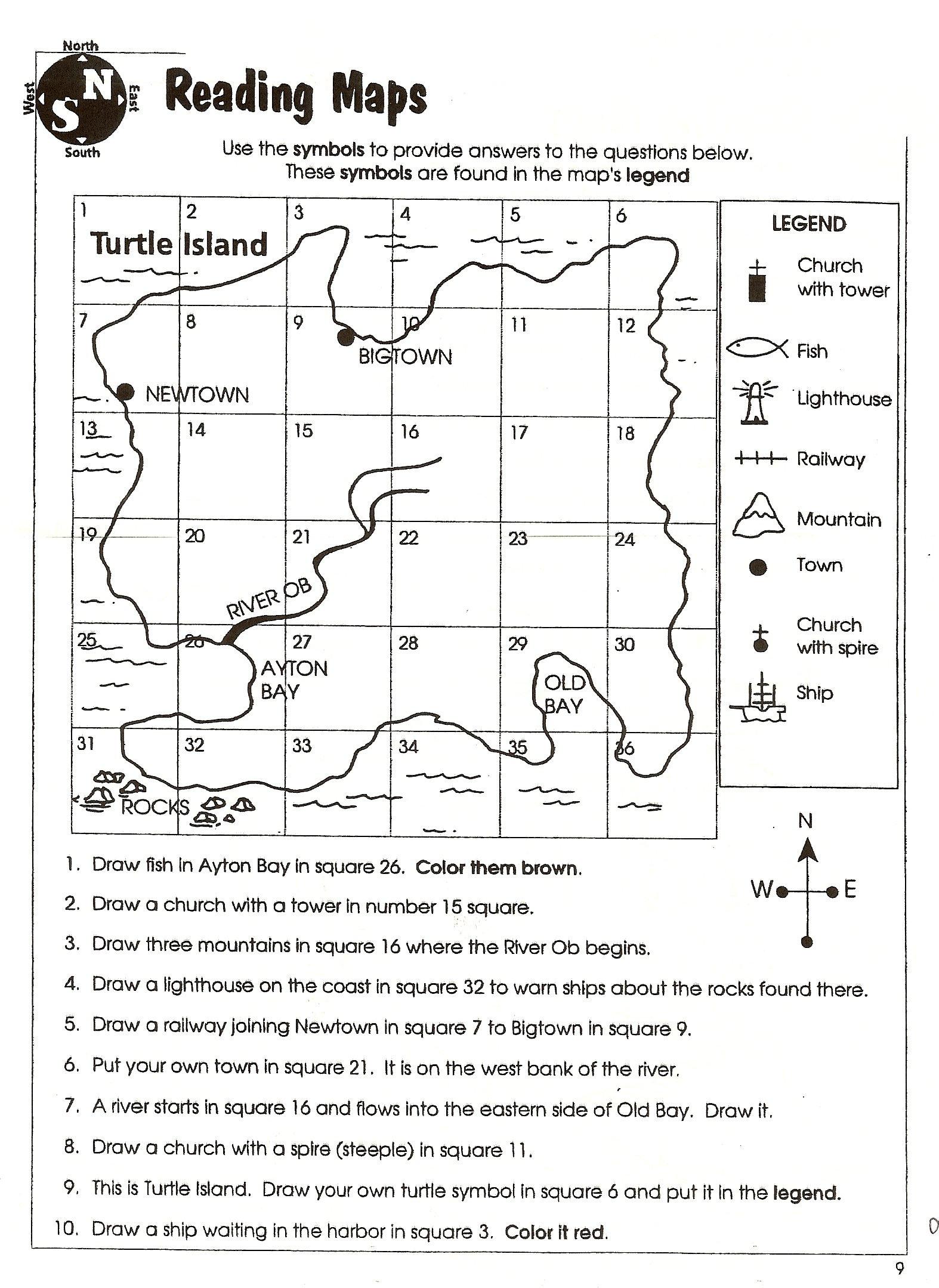 Latitude Longitude Worksheets 6th Grade