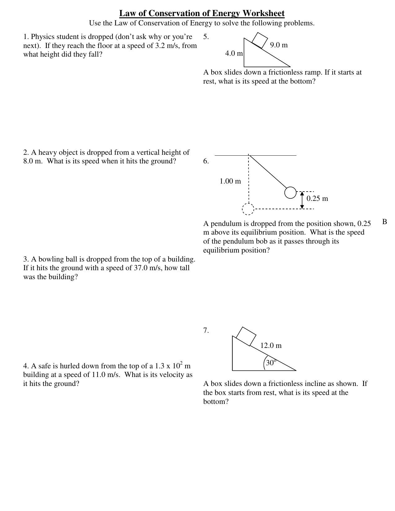 Law Of Conservation Of Energy Worksheet Xcel Energy Center