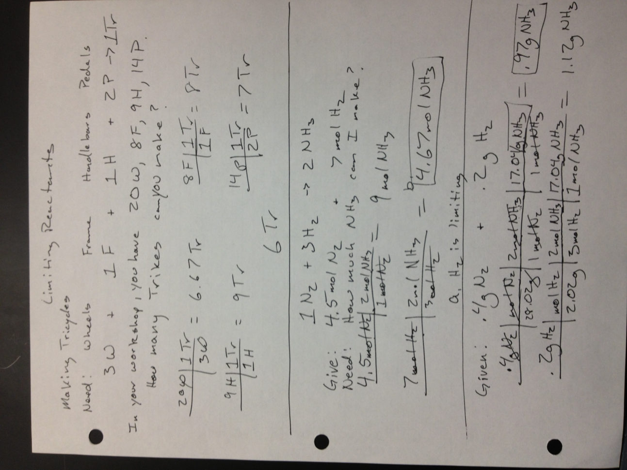 Limiting Reagent Worksheet 1 Answers Fxund